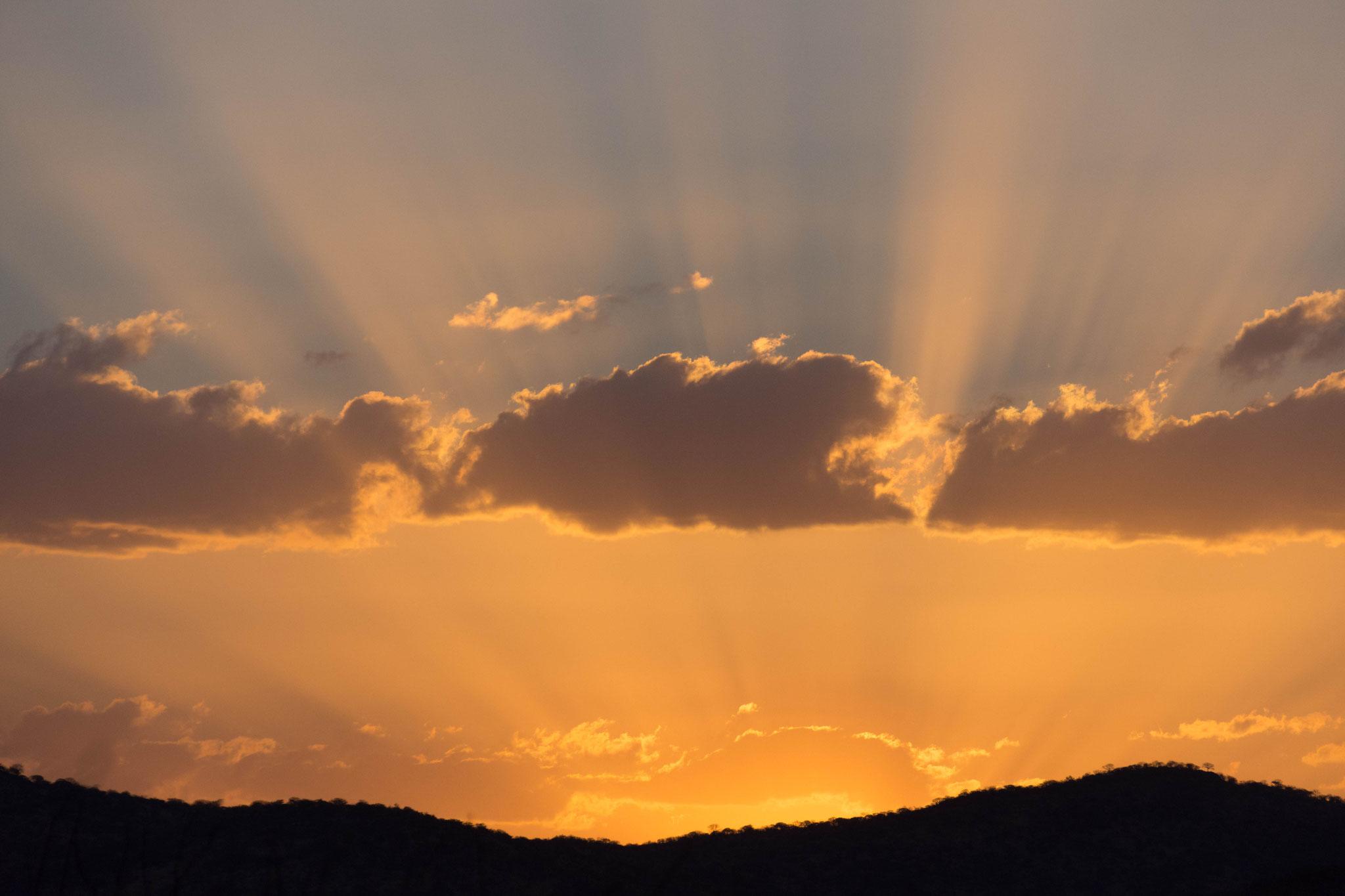 Namibischer Sonnenuntergang