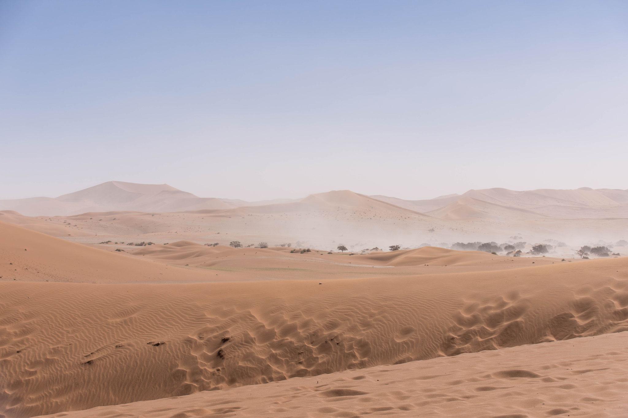 Sandsturm im Tal - Namib