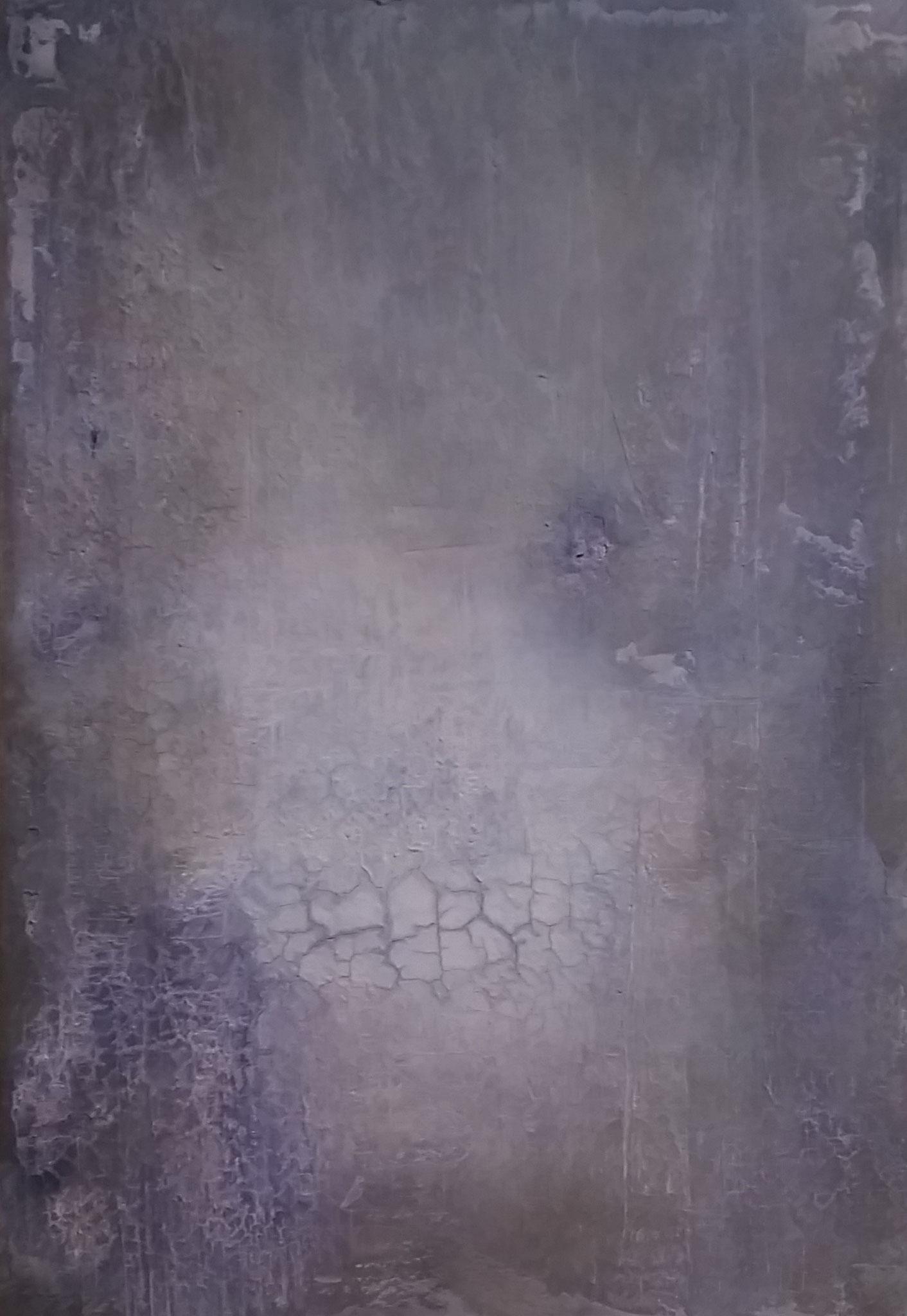 o.T. 70x100 Marmormehl, Öl, Pigmente