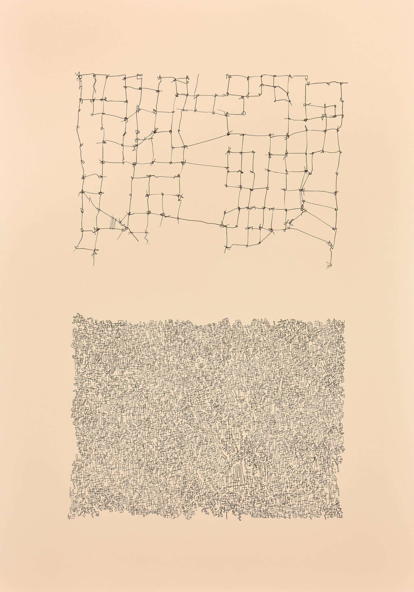 Lignes et trame 2017 Papier 50X70
