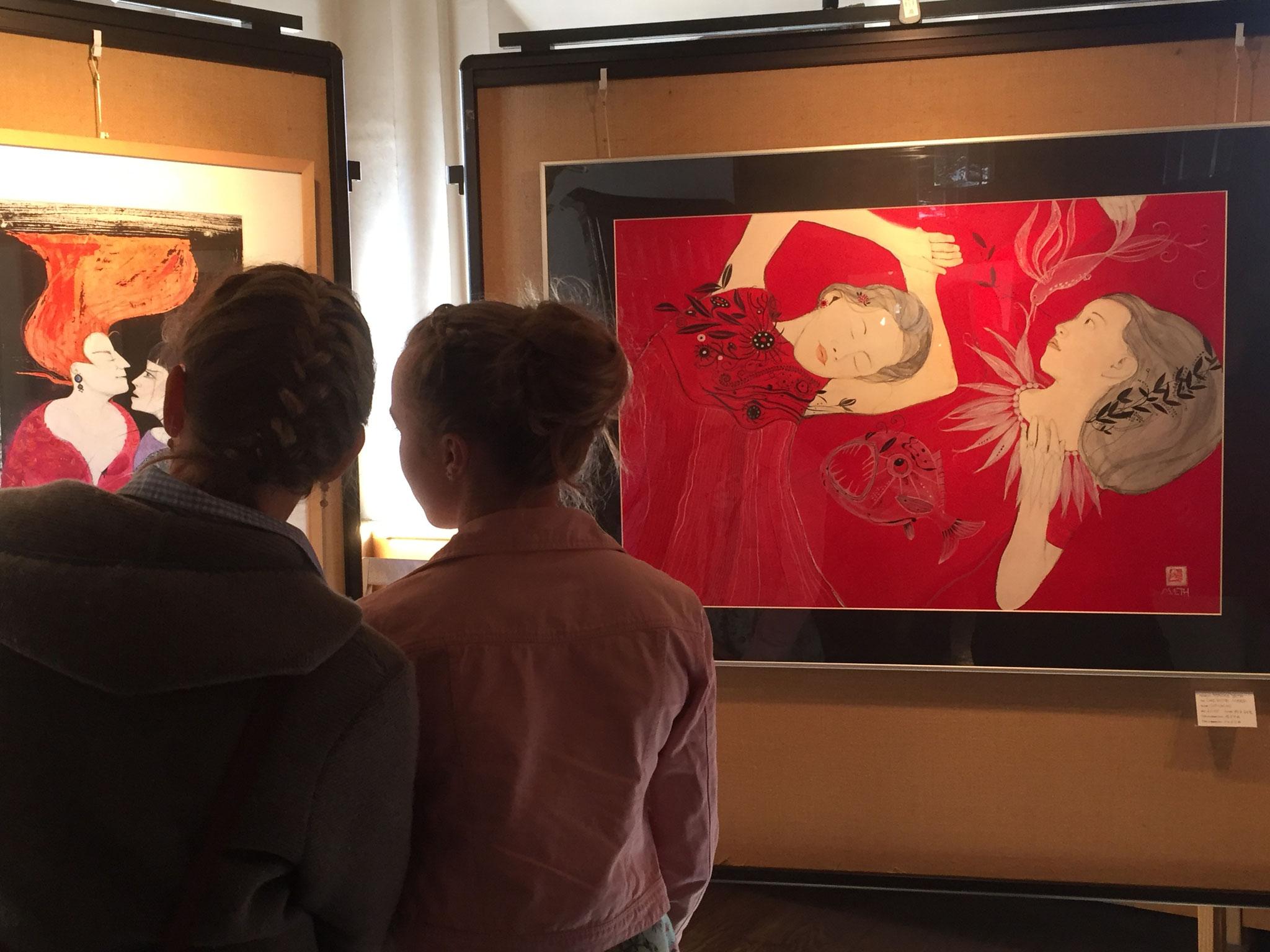 Ausstellung der Bilder von Monika Veth