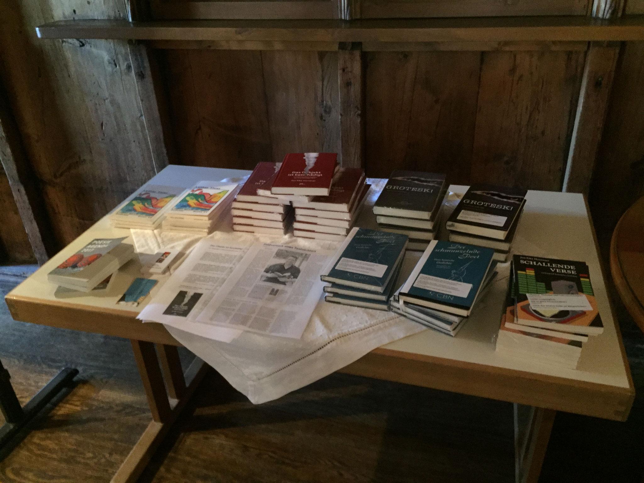 Eine kleine Auswahl der bereits publizierten Bücher der REALTRAUM-Literaten Jan-Eike Hornauer, Lothar Thiel und Karsten Beuchert