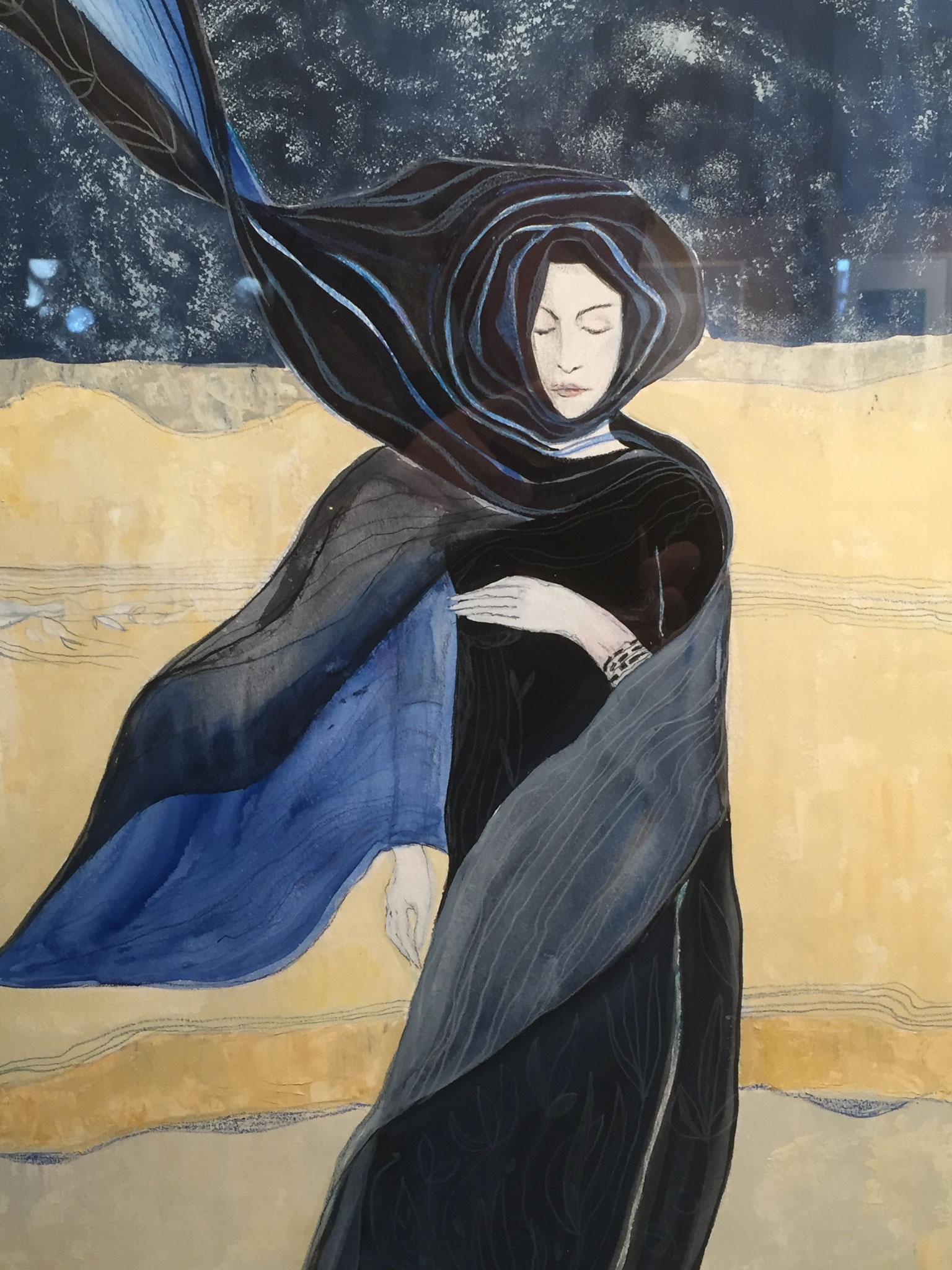 Eines der ausgestellten Bilder von Monika Veth