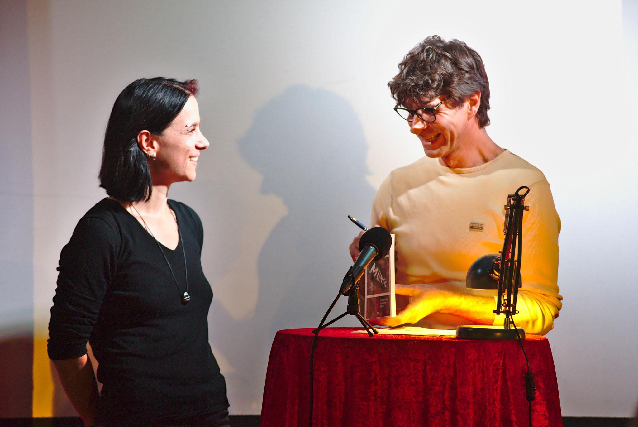 Franz Westner im Gespräch mit Sabine Brandl, 1. Vorsitzende REALTRAUM e.V.