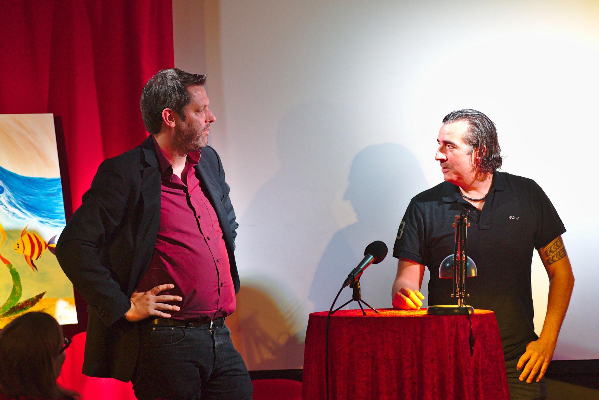 Jan-Eike Hornauer im Bühnengespräch mit Christoph Obermeier