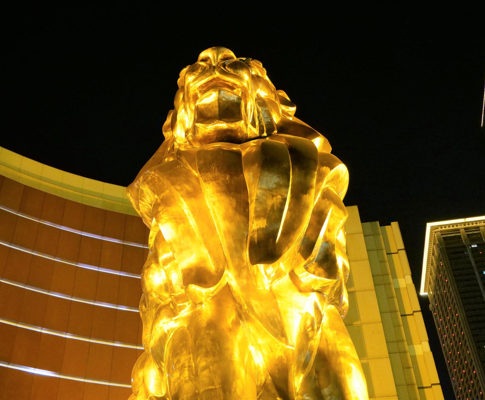 MGMのシンボル『ライオン』。MGMと言えばベガスの会場が超有名ですね。