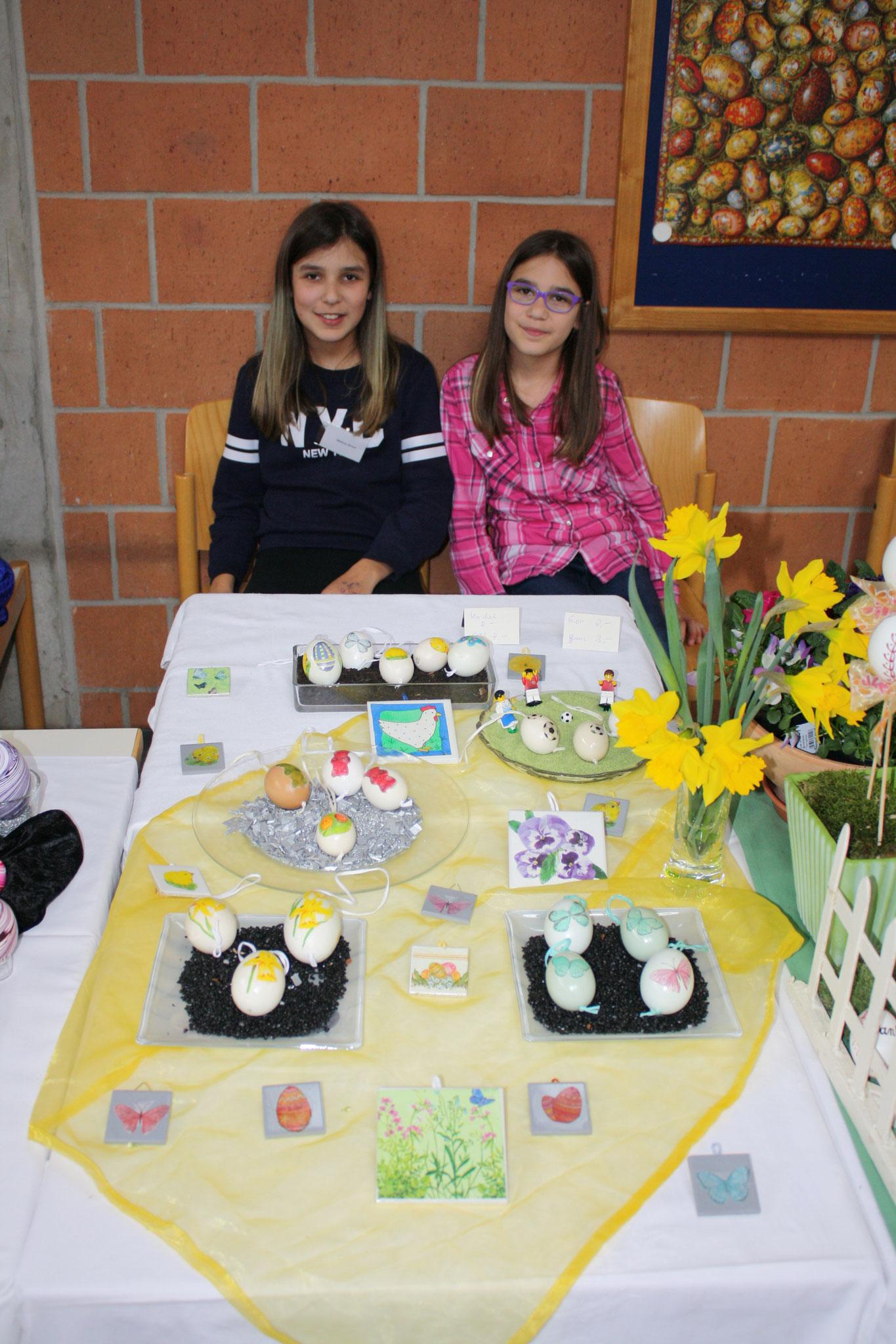 Unsere jüngsten Aussteller Melissa und Reyna