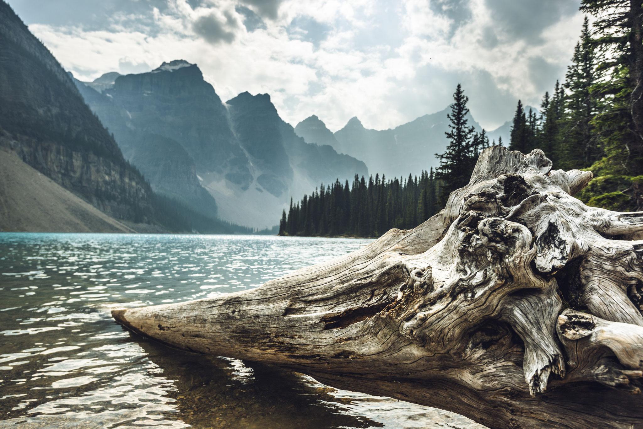 Moraine Lake in Banff National Park - auch hier gibt es zwei High Schools im Programm