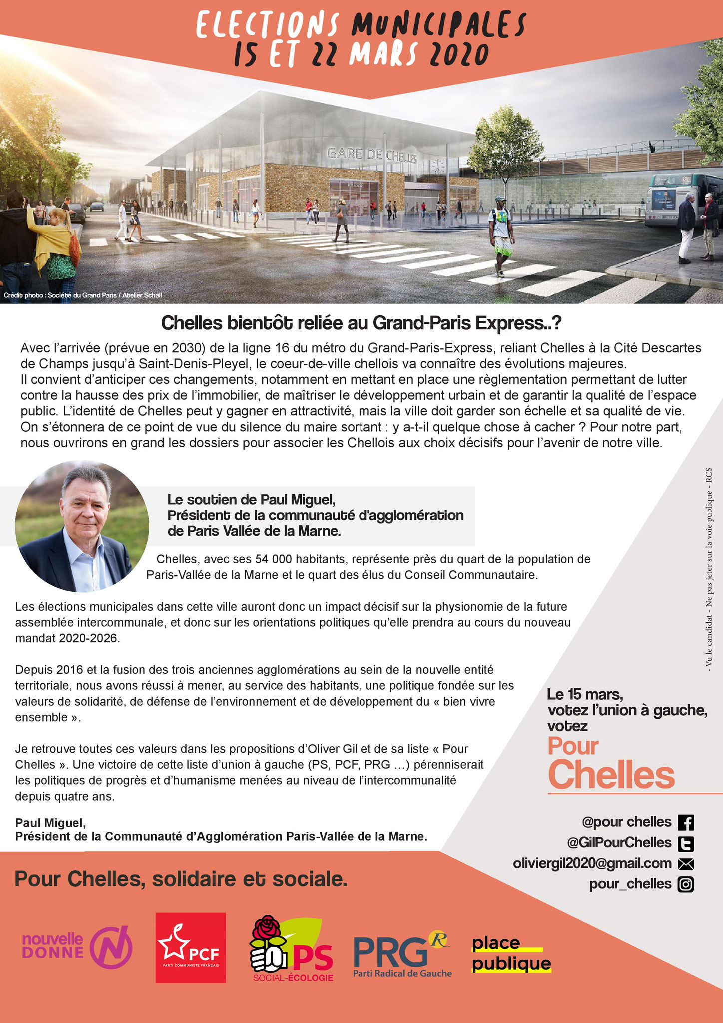 Tract 8 pages campagne municipales 2020 - Olivier Gil pour Chelles