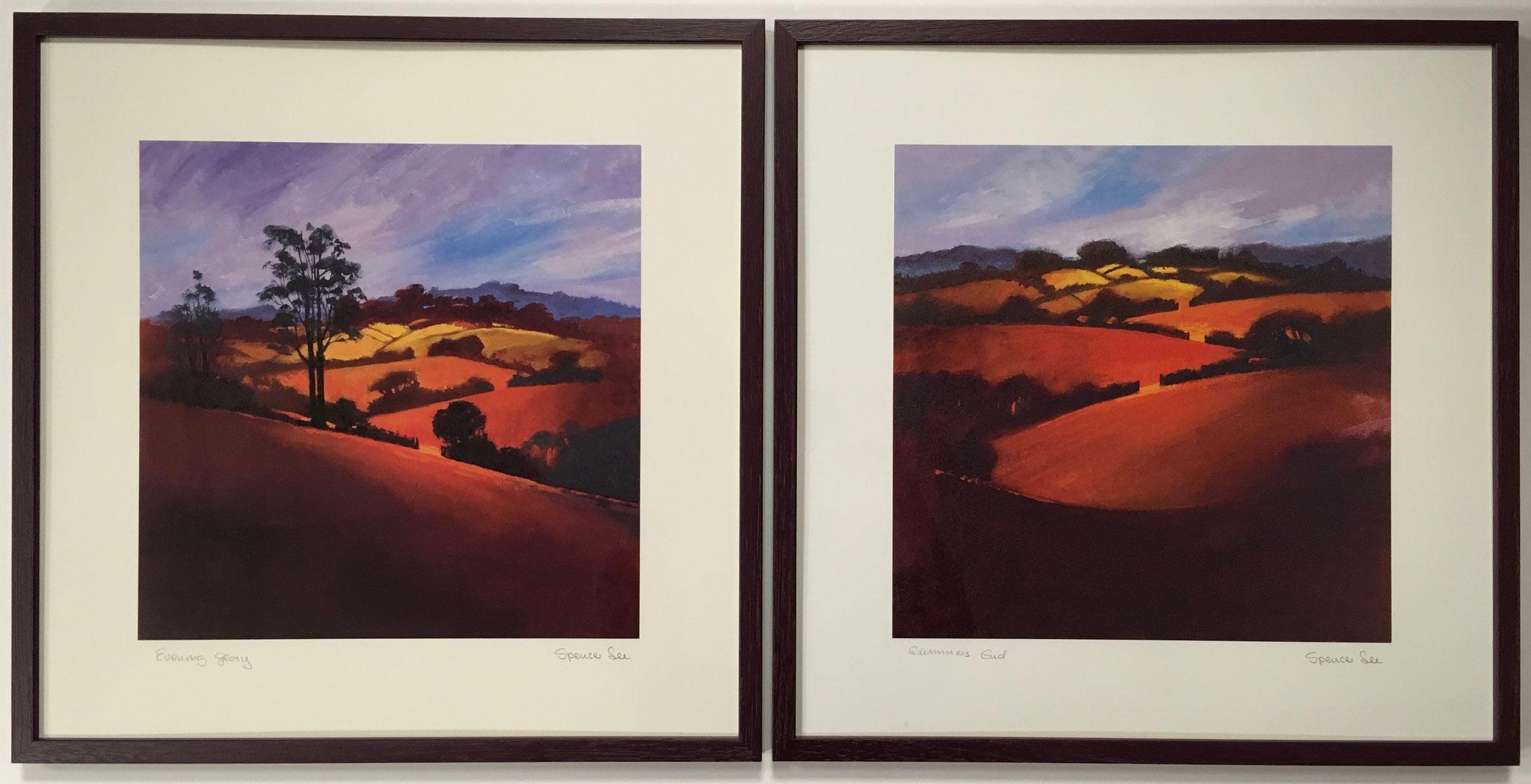 "Spencer ""Evening glory + Summer End"" 2 Kunstdrucke in Holzrahmen Größe/Falzmaß: 50,0 x 50,0cm je € 110,-"