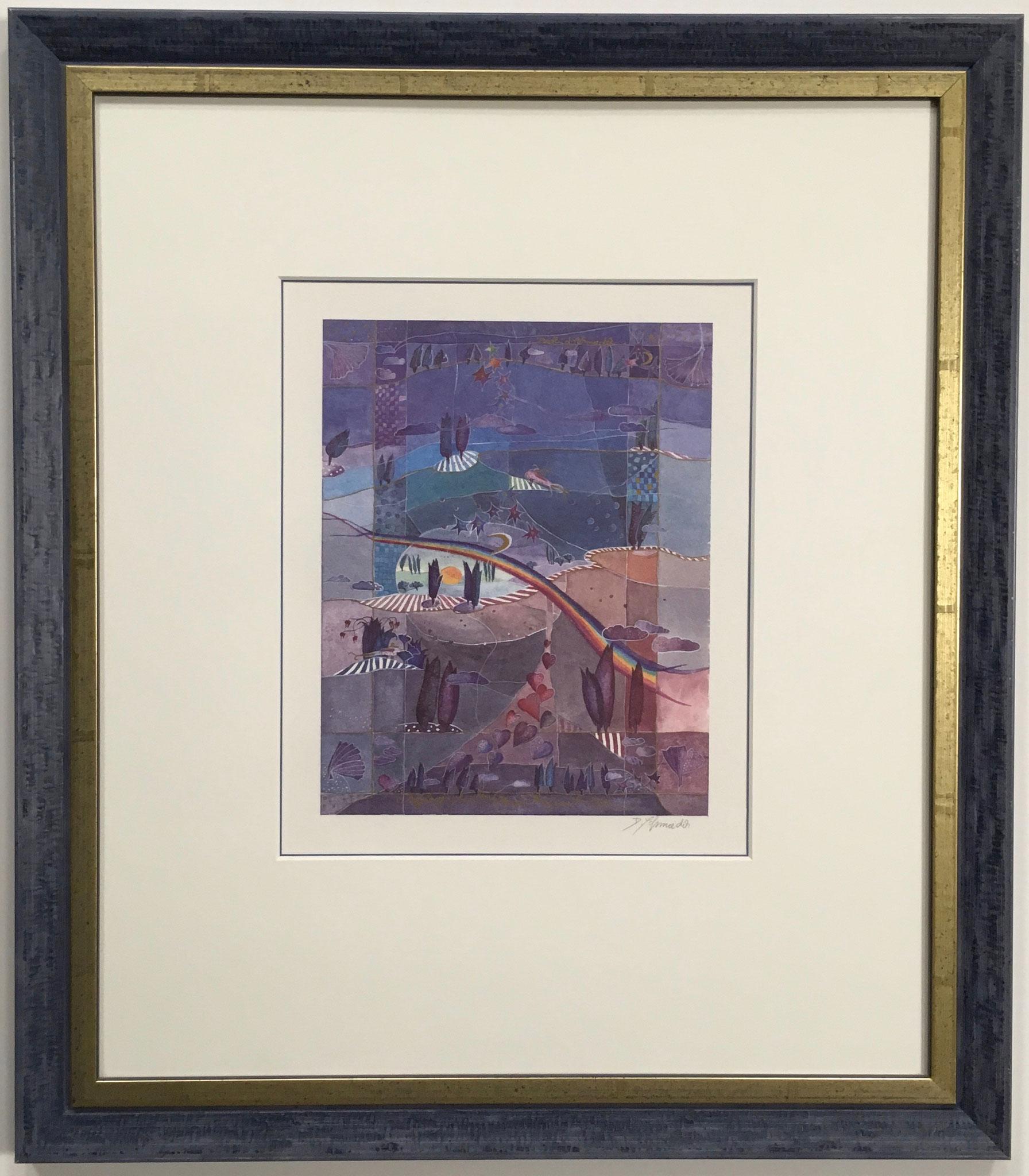 """Schmiedeck """"ohne Titel"""" Kunstdruck handsigniert mit Passepartout Größe/Falzmaß: 41,0 x 48,0cm € 135,-"""