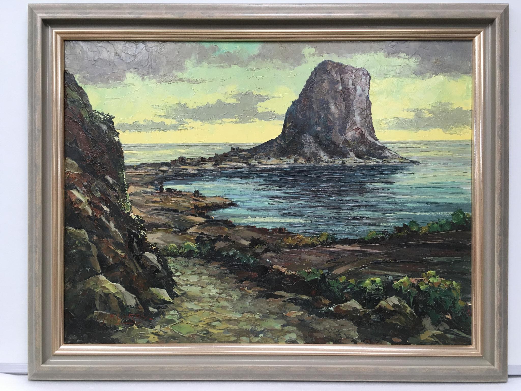 """Künstler unbekannt """"Ifach-Costa del Sol, Spanien"""" Größe/Falzmaß 60,0 x 80,0cm € 490,-"""