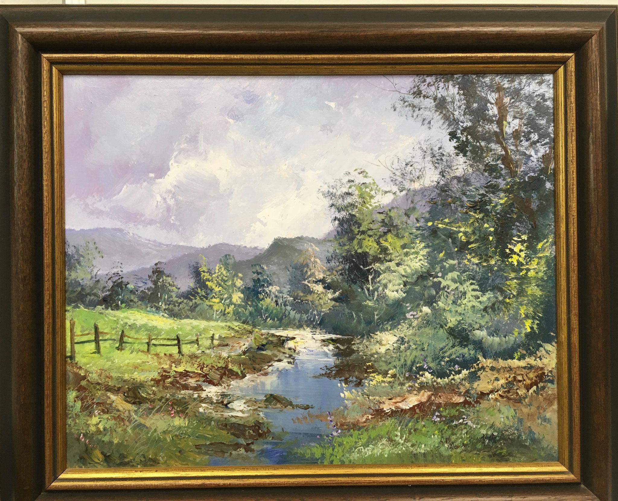 """Künstler unbekannt Original Acrylbild """"Landschaft I"""" Größe/Falzmaß: 41,0 x 33,0cm Sonderpreis € 249,-"""