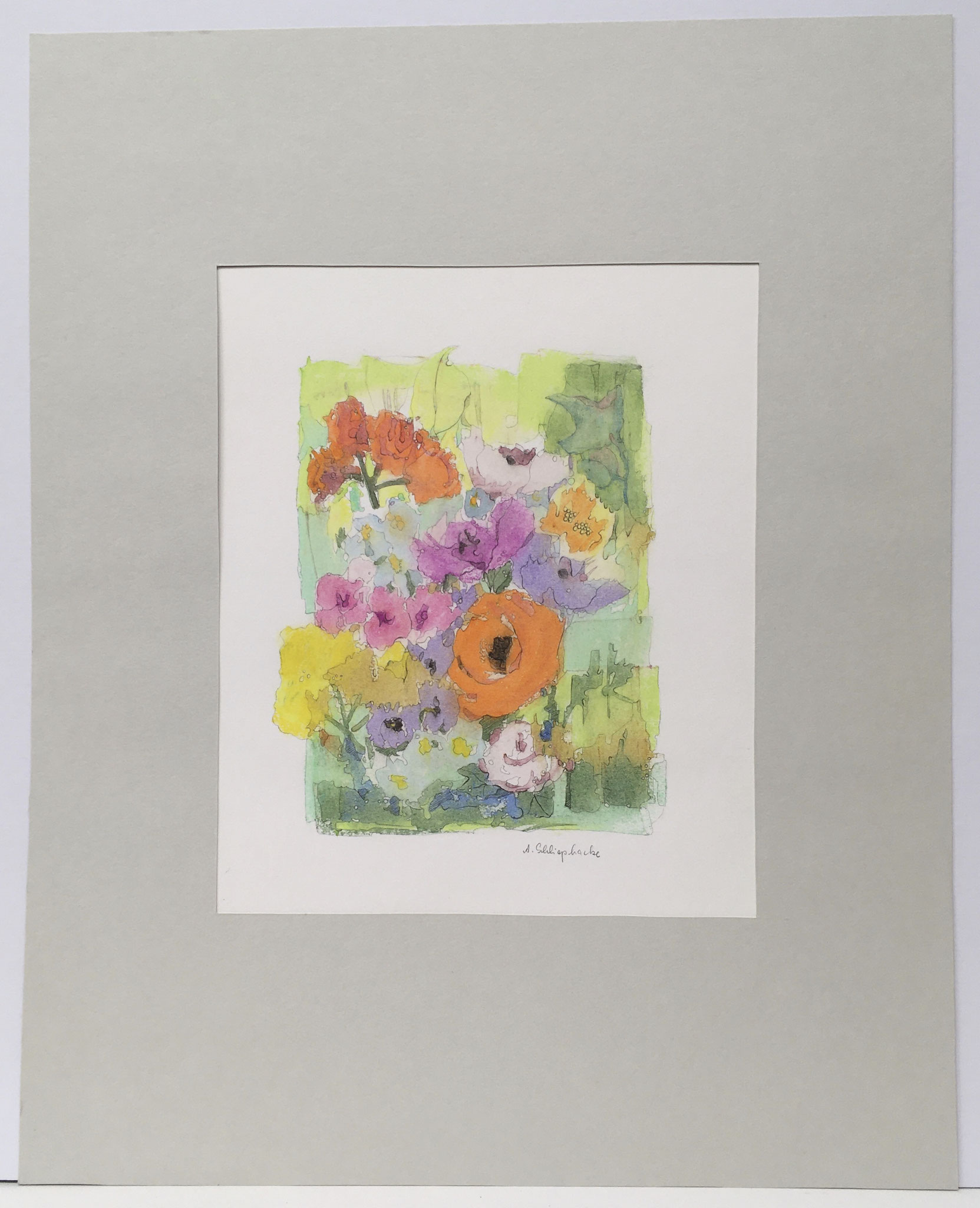 "Mischtechnik ""Blumen"" - 40 x 50 cm - 490,- €"