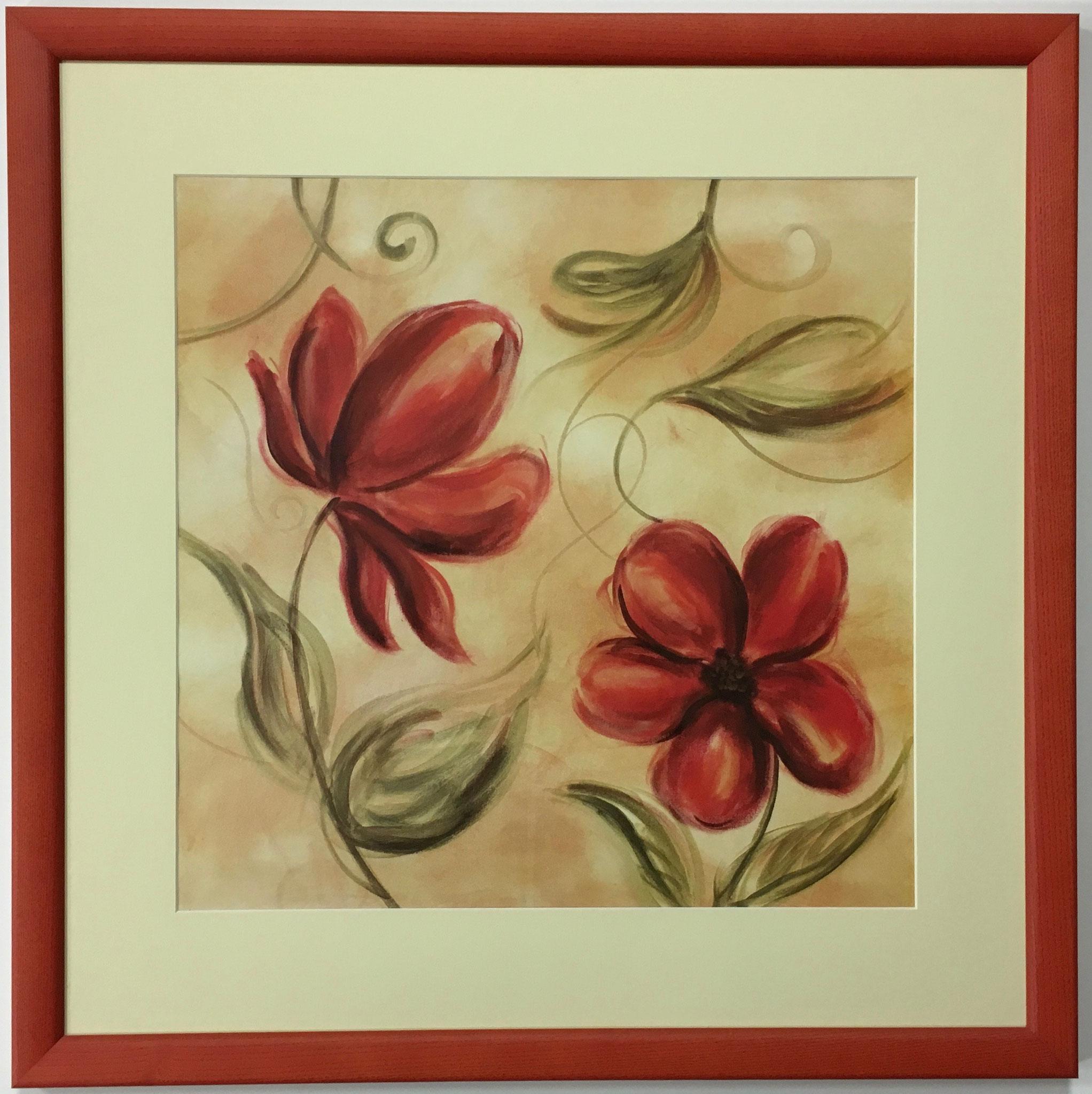 "M. Brey ""Laras Whimsy I"" Kunstdruck mit Passepartout gerahmt Größe/Falzmaß: 60,0 x 60,0cm € 145,-"