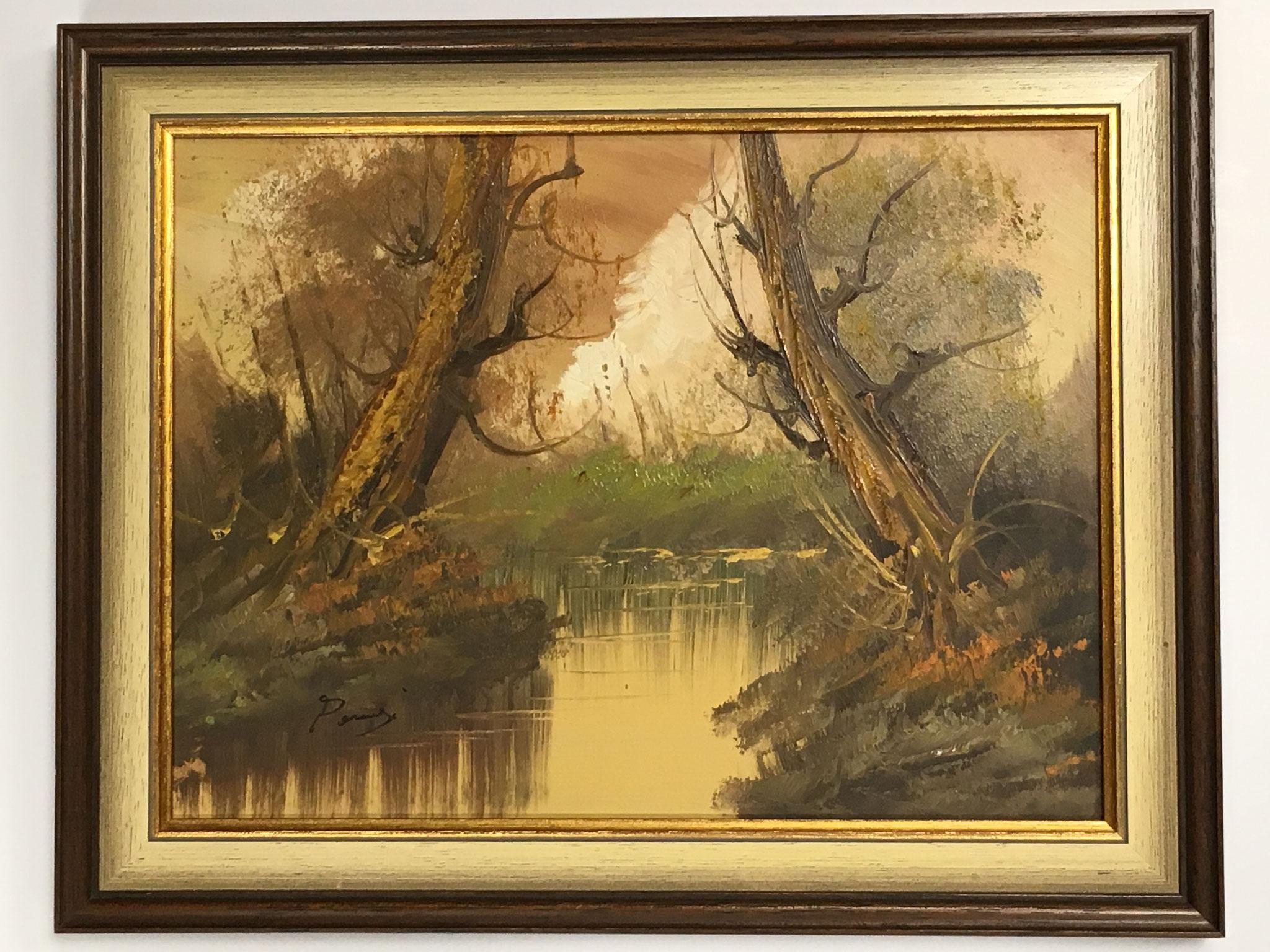 """Pernje """"Bäume am Bach"""" Größe/Falzmaß 30,0 x 40,0cm, Sonderpreis € 149,-"""