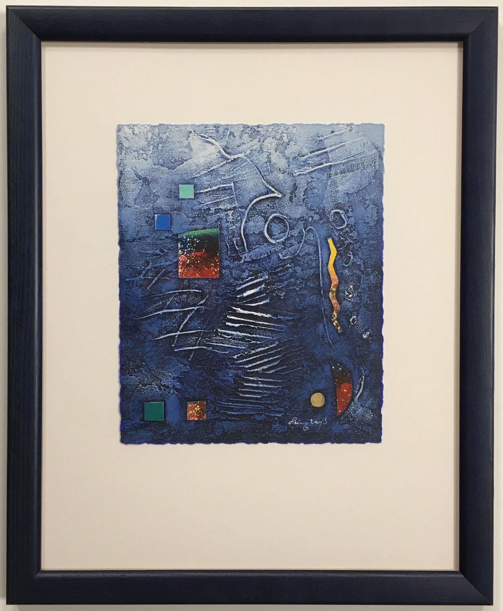 """Heinz Voß """"ohne Titel"""" Acryl-Collage Größe/Falzmaß: 40,0 x 50,0cm € 349,-"""