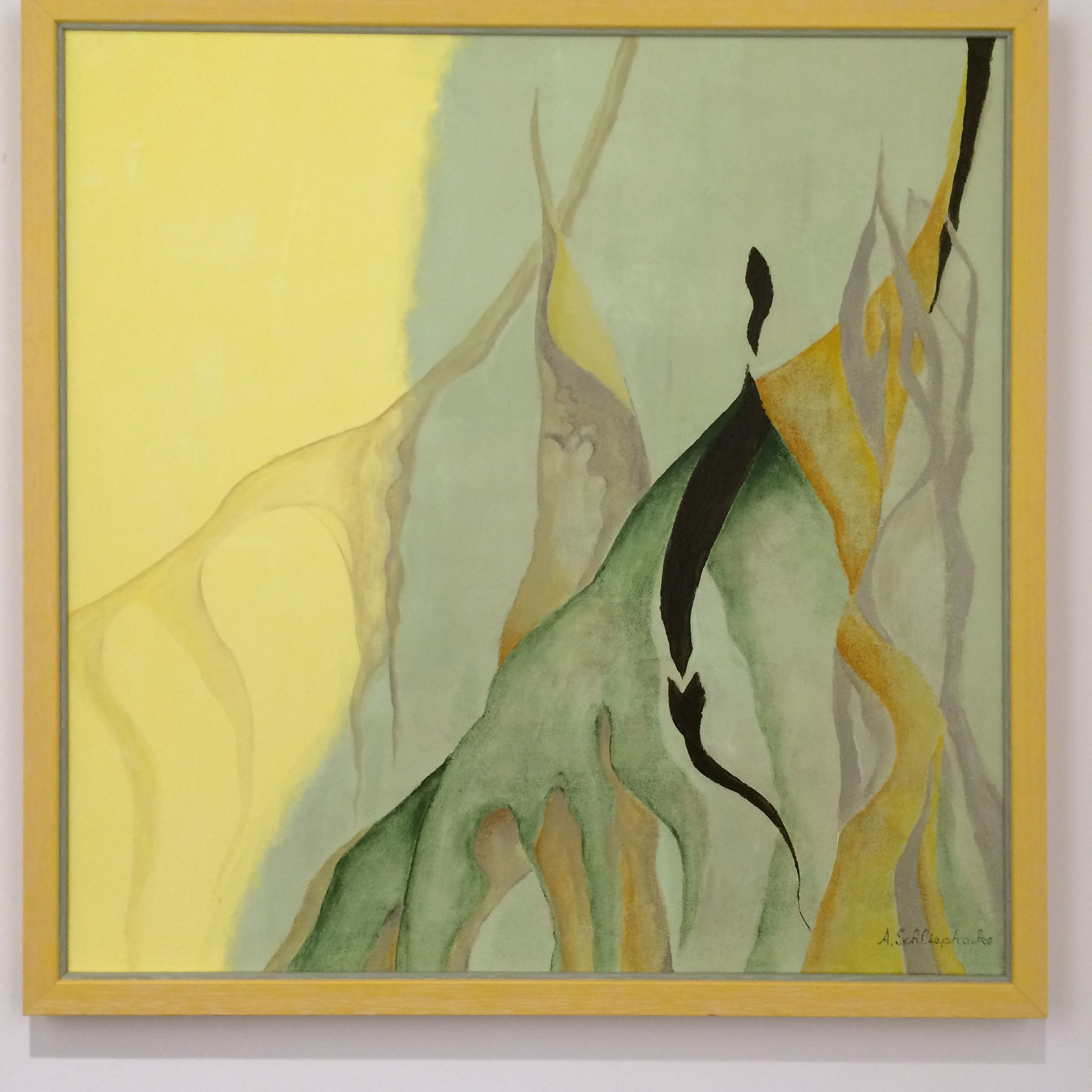 """Orig. Acrylbild auf Leinwand """"Vegetation"""" - 75 x 75cm - gerahmt 1.690,-€"""