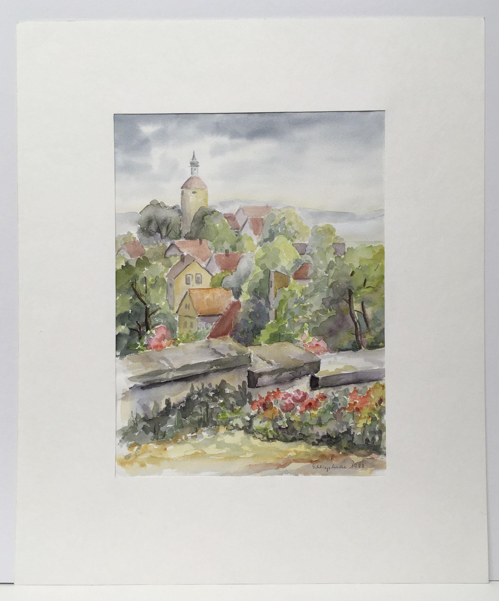"Orig. Aquarell ""Bürg"" - 50 x 60 cm - 490,-€"