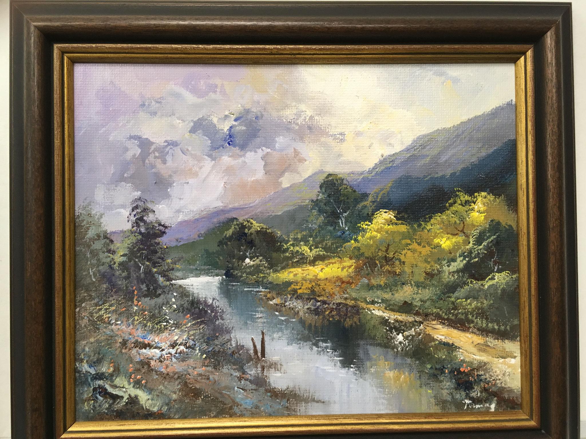 "Künstler unbekannt Original Acrylbild ""Landschaft II"" Größe/Falzmaß: 41,0 x 33,0cm Sonderpreis € 249,-"