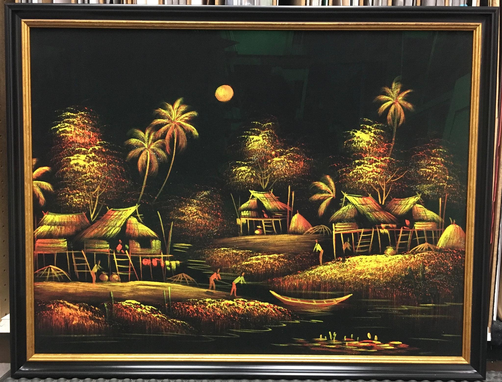 Samtbild aus dem Urlaub mit Artglas gerahmt