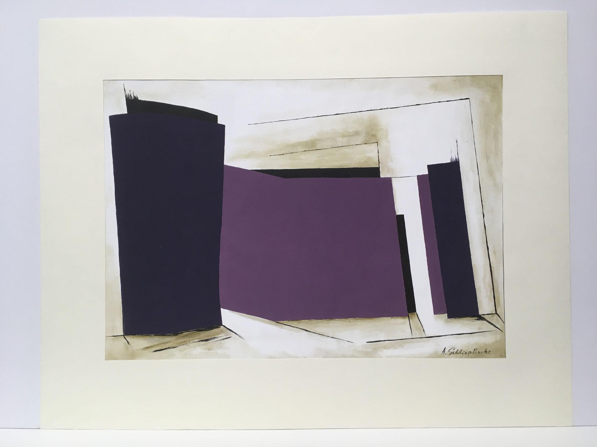 """Orig. Gouache auf Papier """"Meditation"""" - 90 x 70 cm - 1.490,-€"""