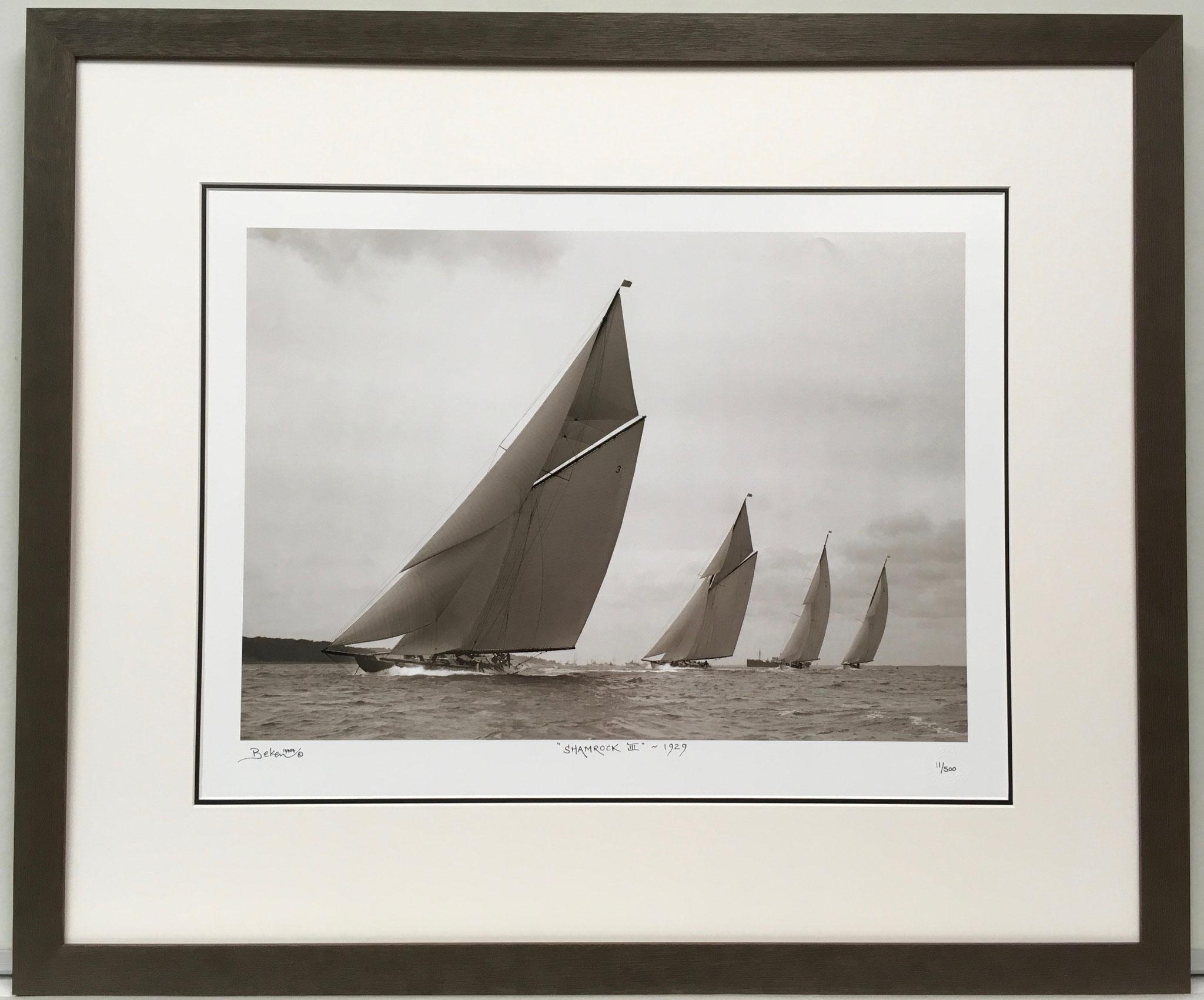 Hochwertige Fotografie mit Doppelpassepartout und Artglas