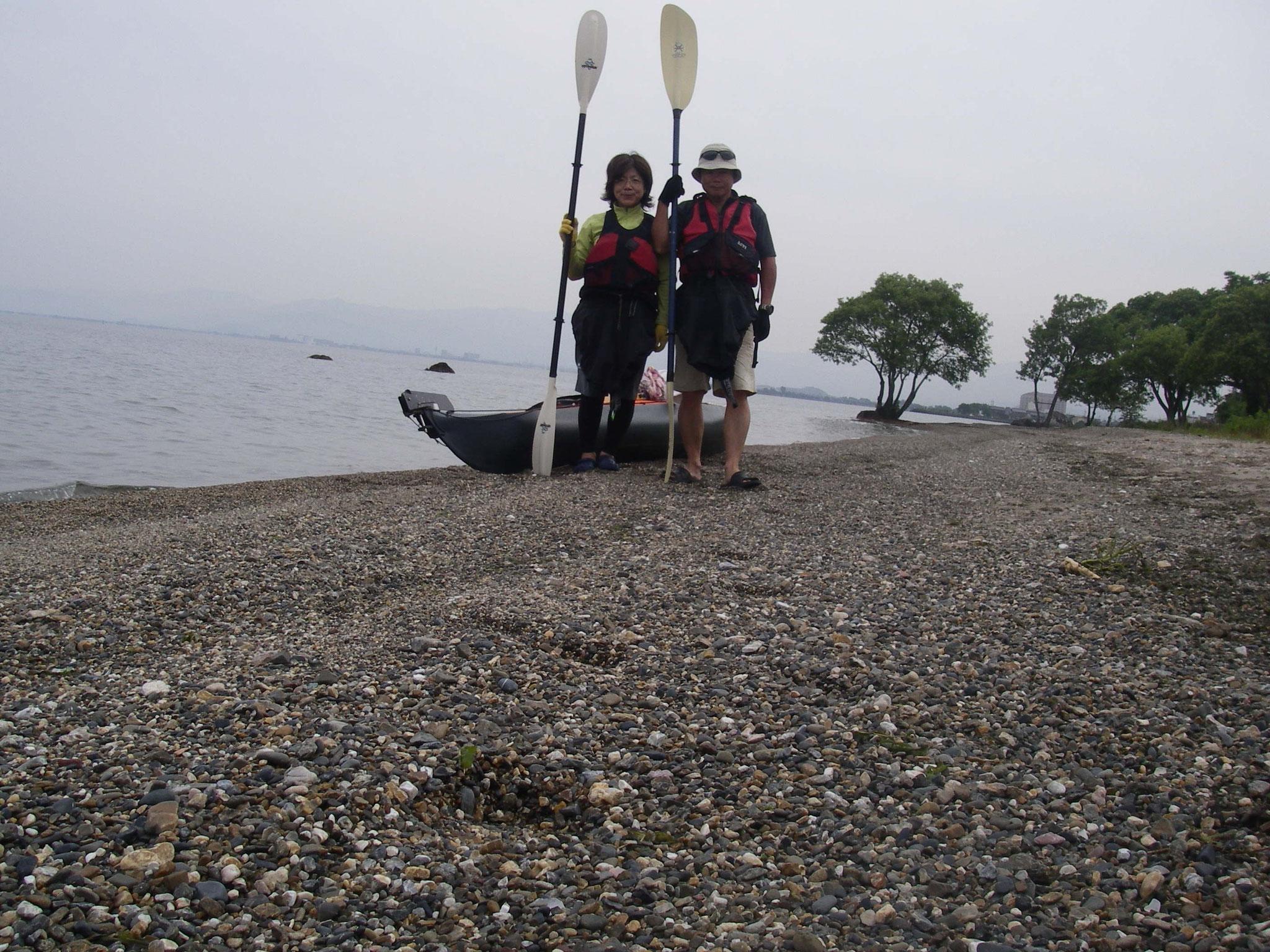 琵琶湖縦断シーカヤック