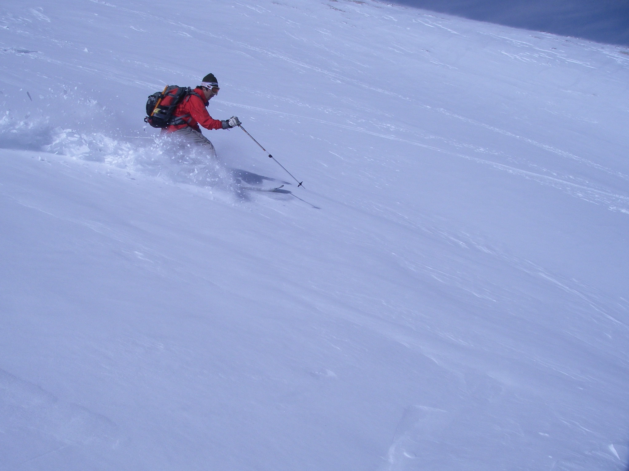 御岳山を滑る