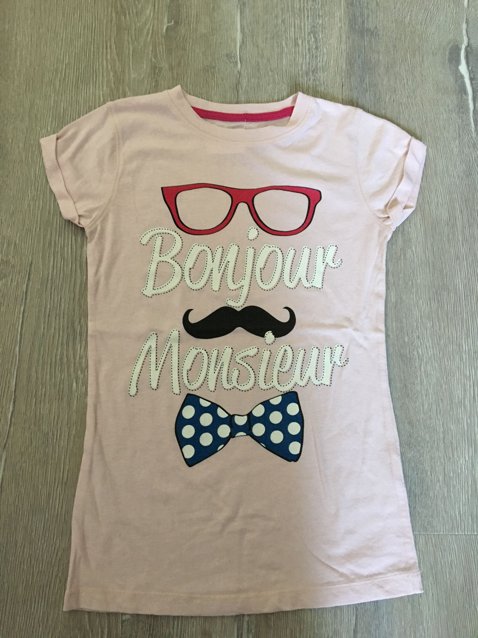 Shirt rose Brille