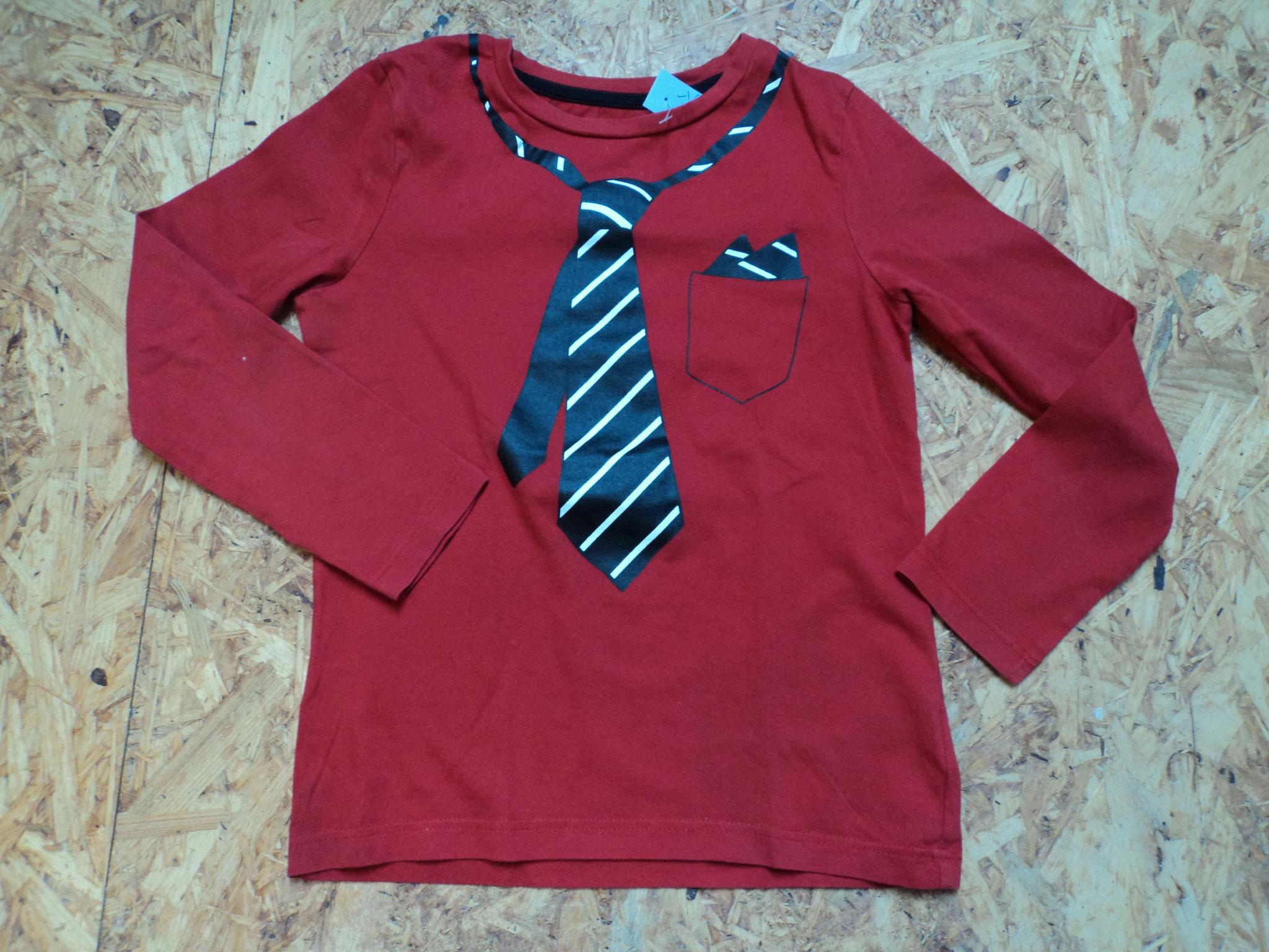 Langarmshirt Krawatte