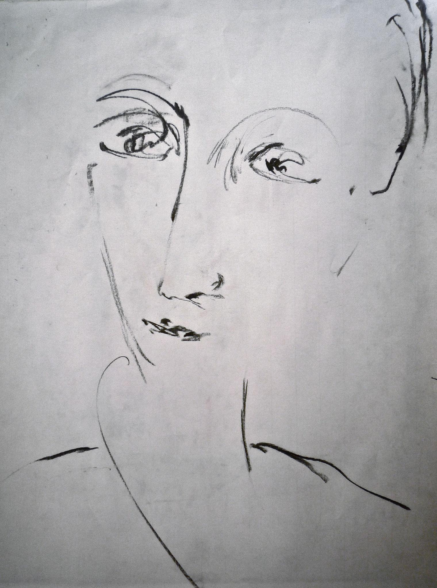 Fusain, format 50x65cm