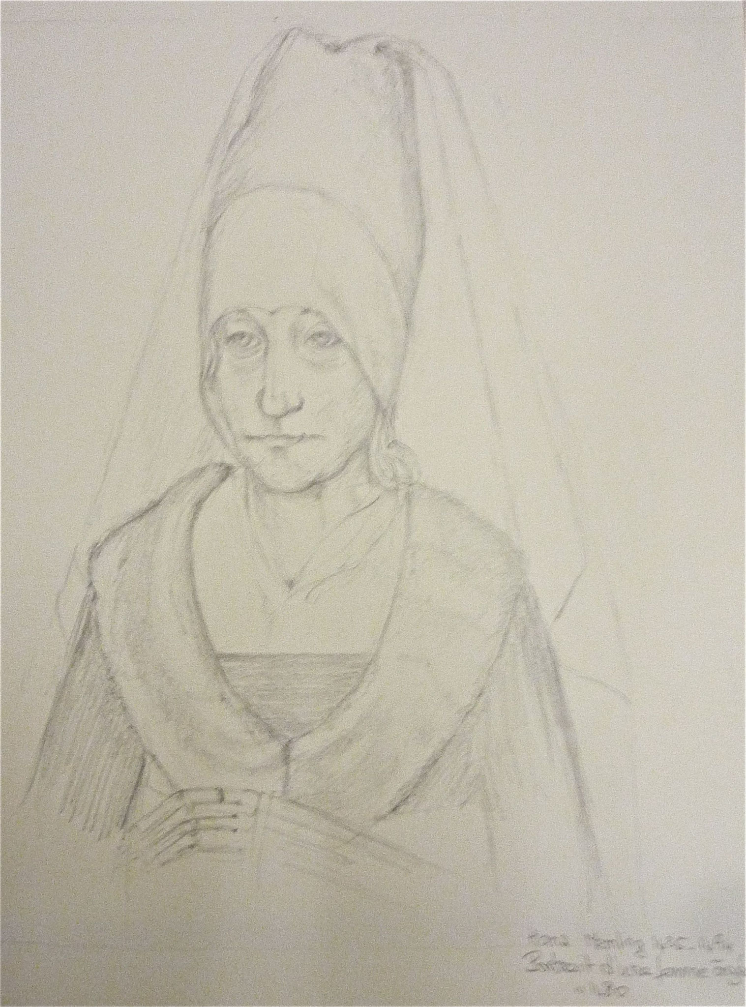 Louvre Portrait femme art flamand