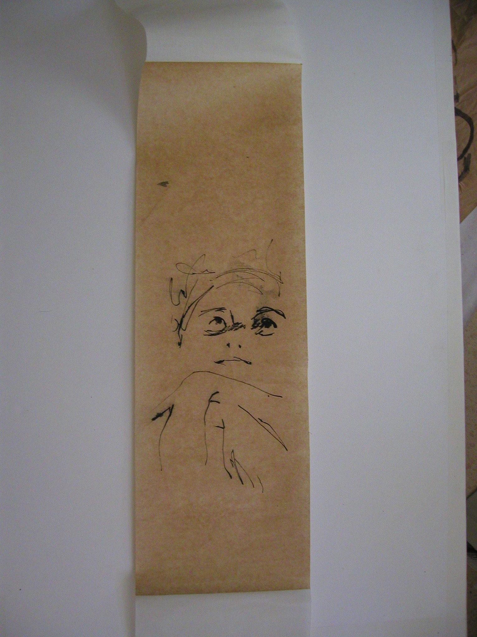 Encre dur papier kraft 28g   25x65cm