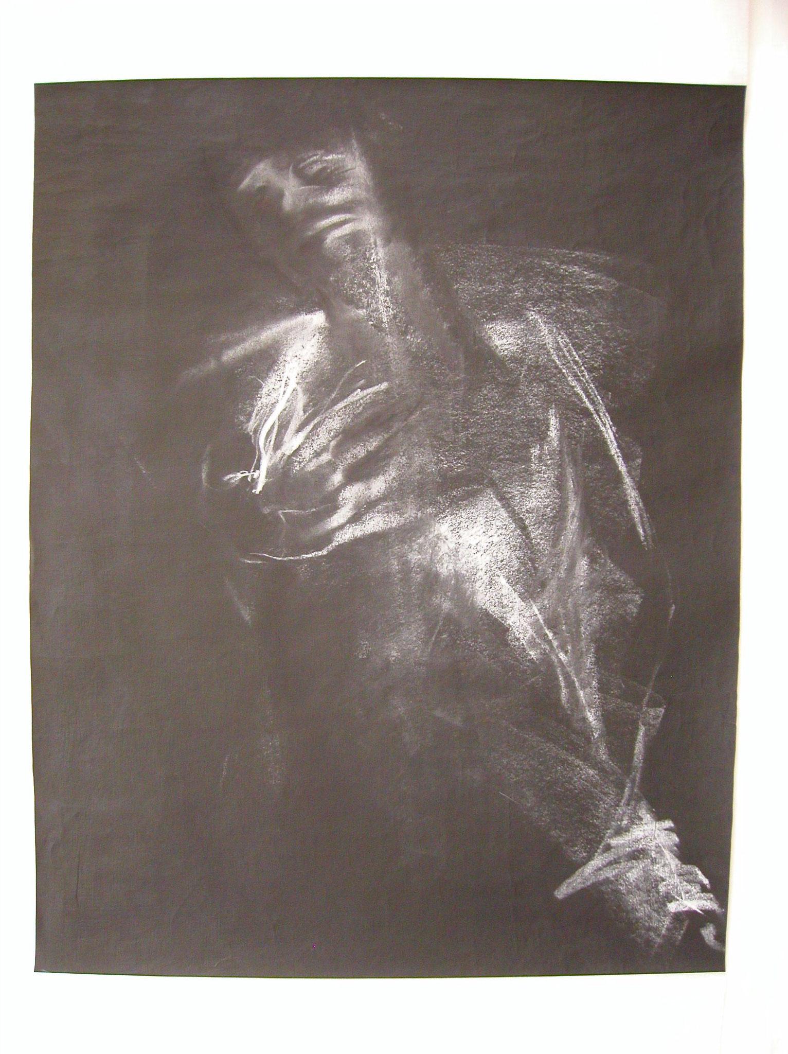 Craie sur papier noir   vendu