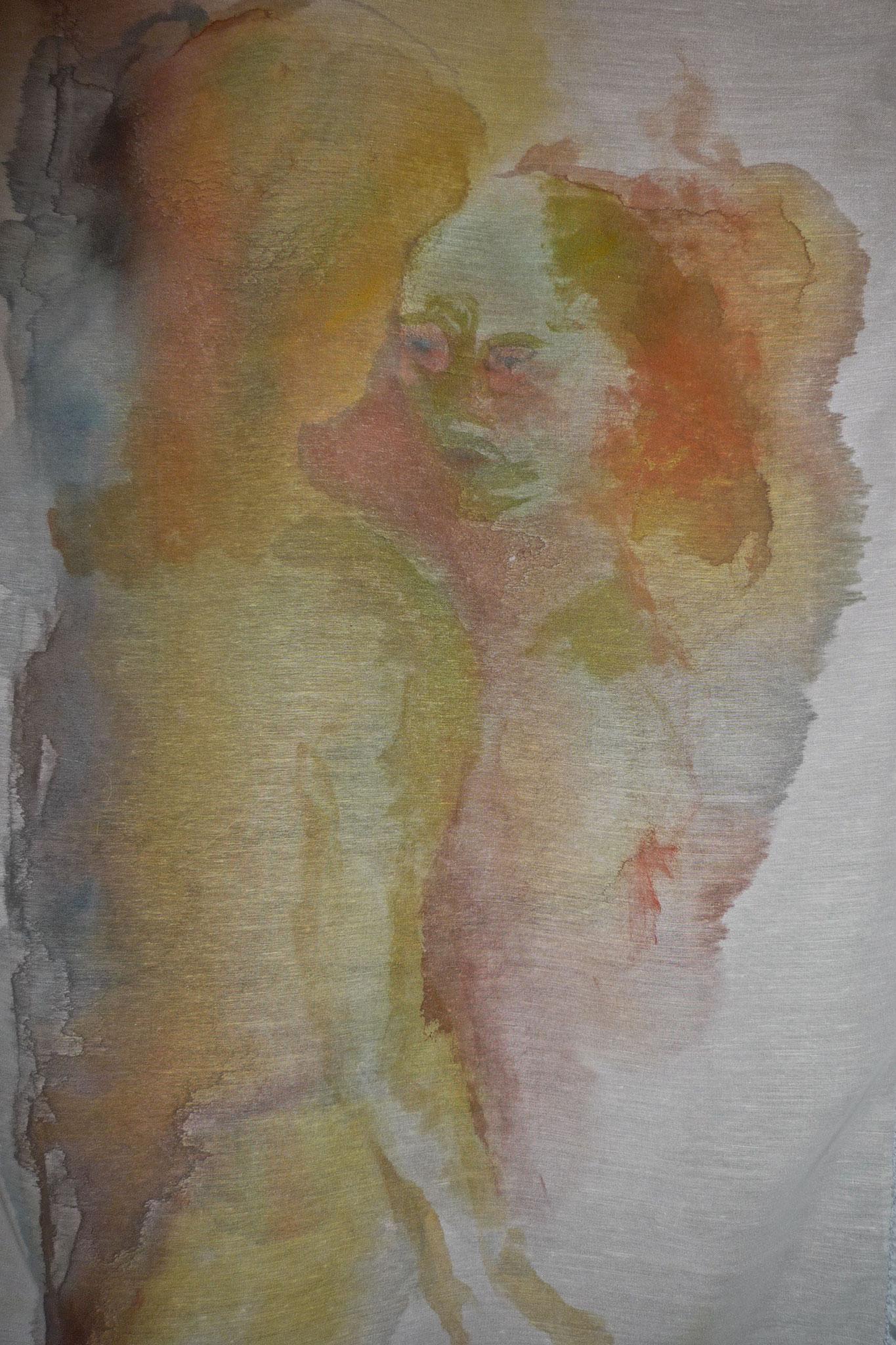 Peinture sur voilage 1,80 x 1,20m