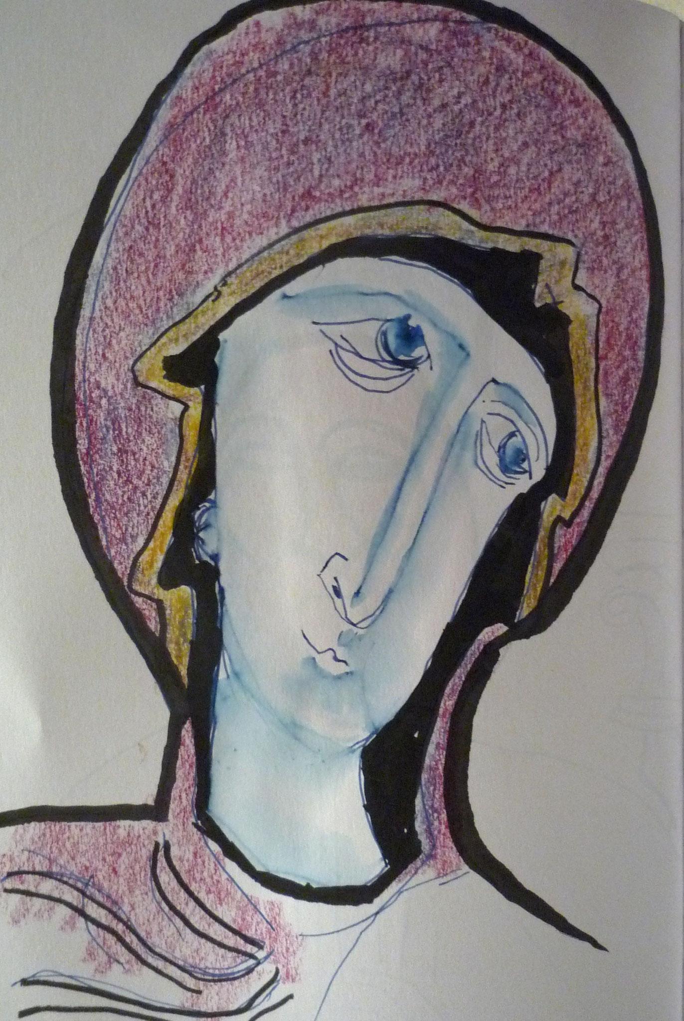 Louvre tête de Vierge