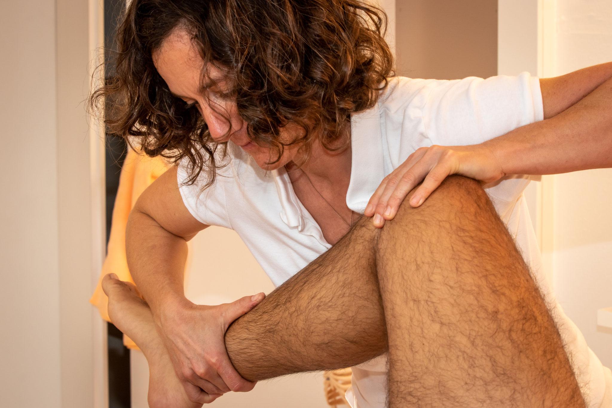 Beinlänge kontrollieren