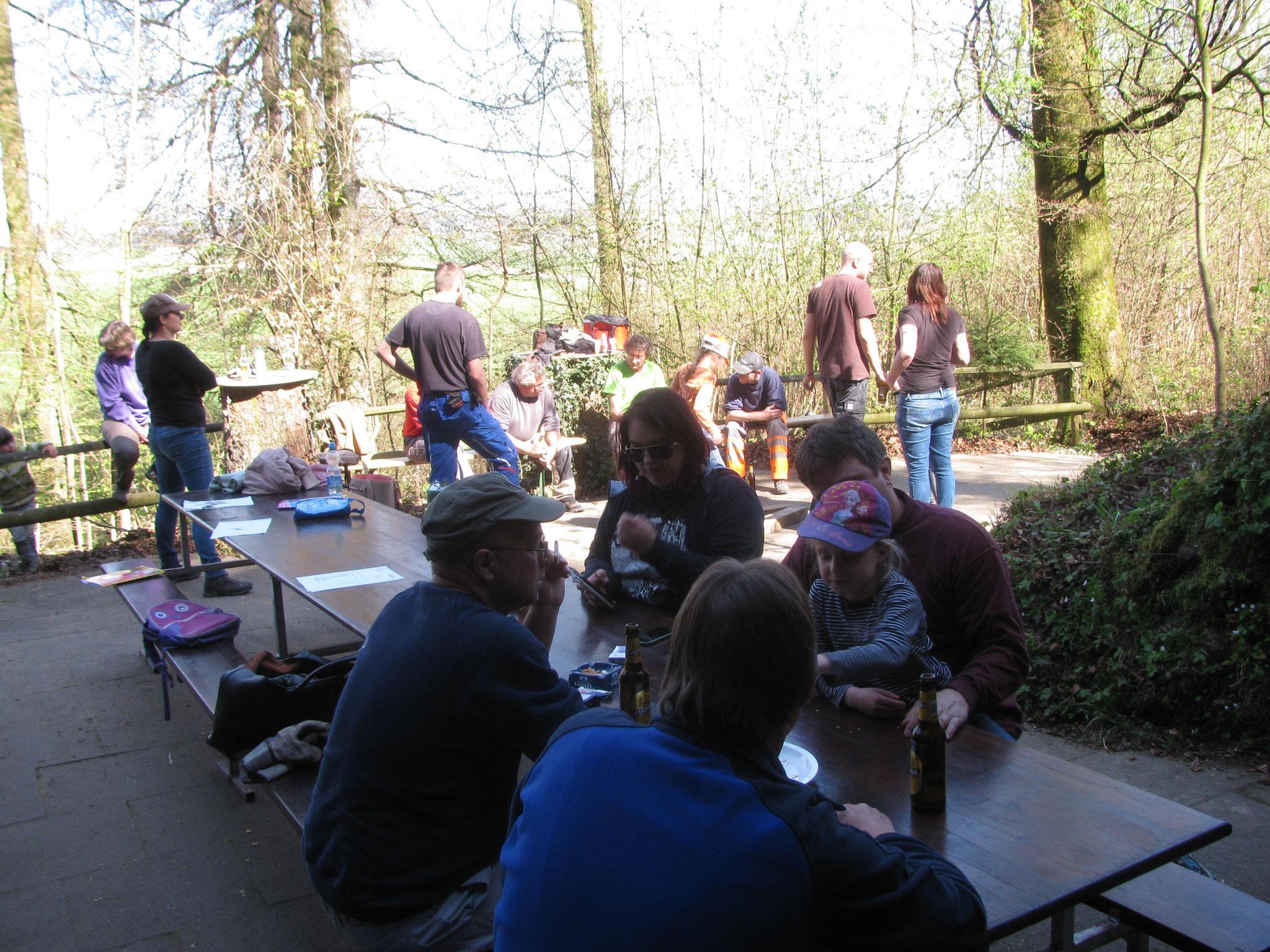 Frühlingsputz Clubhütte