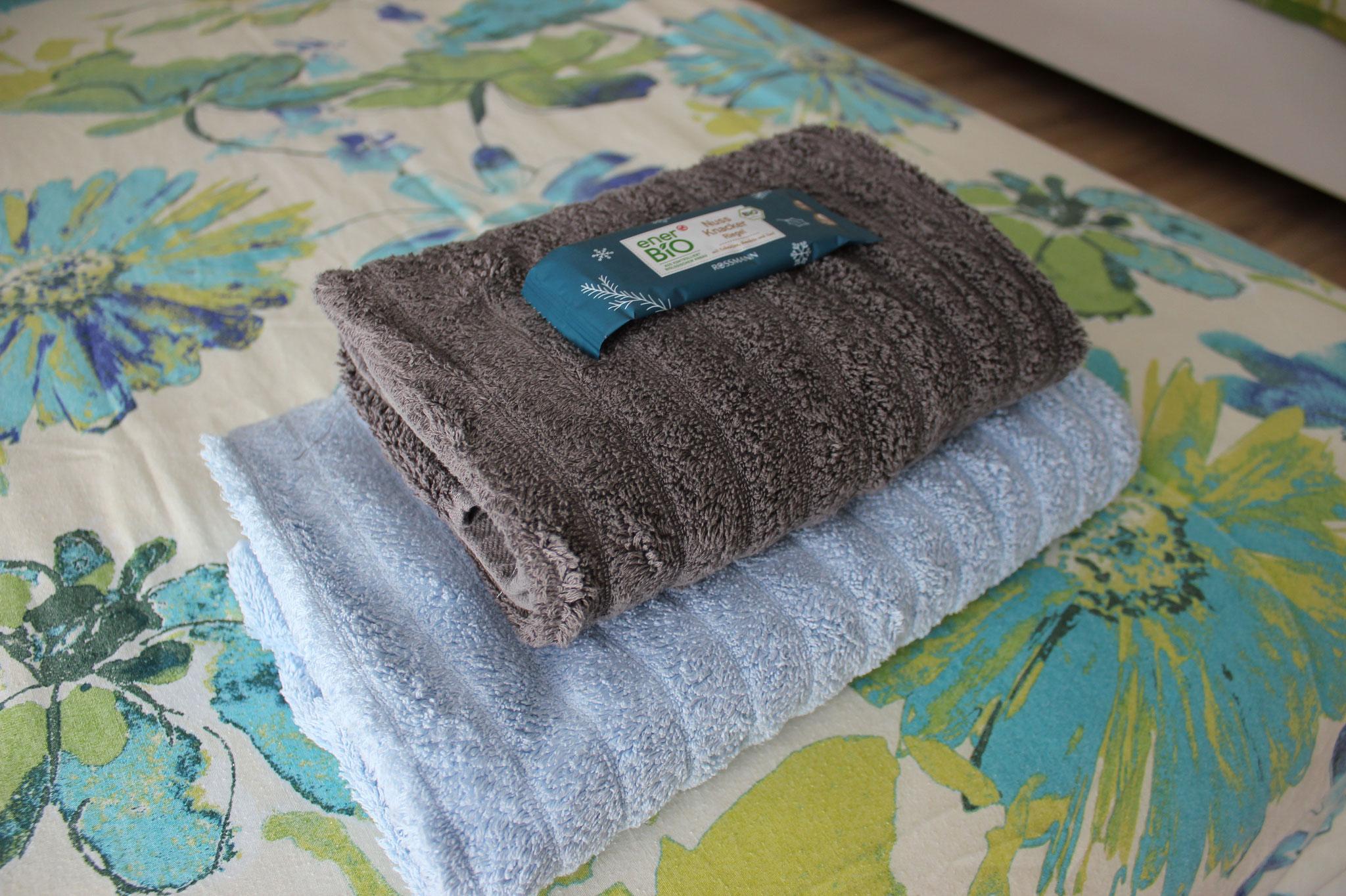 Handtücher sind immer dabei