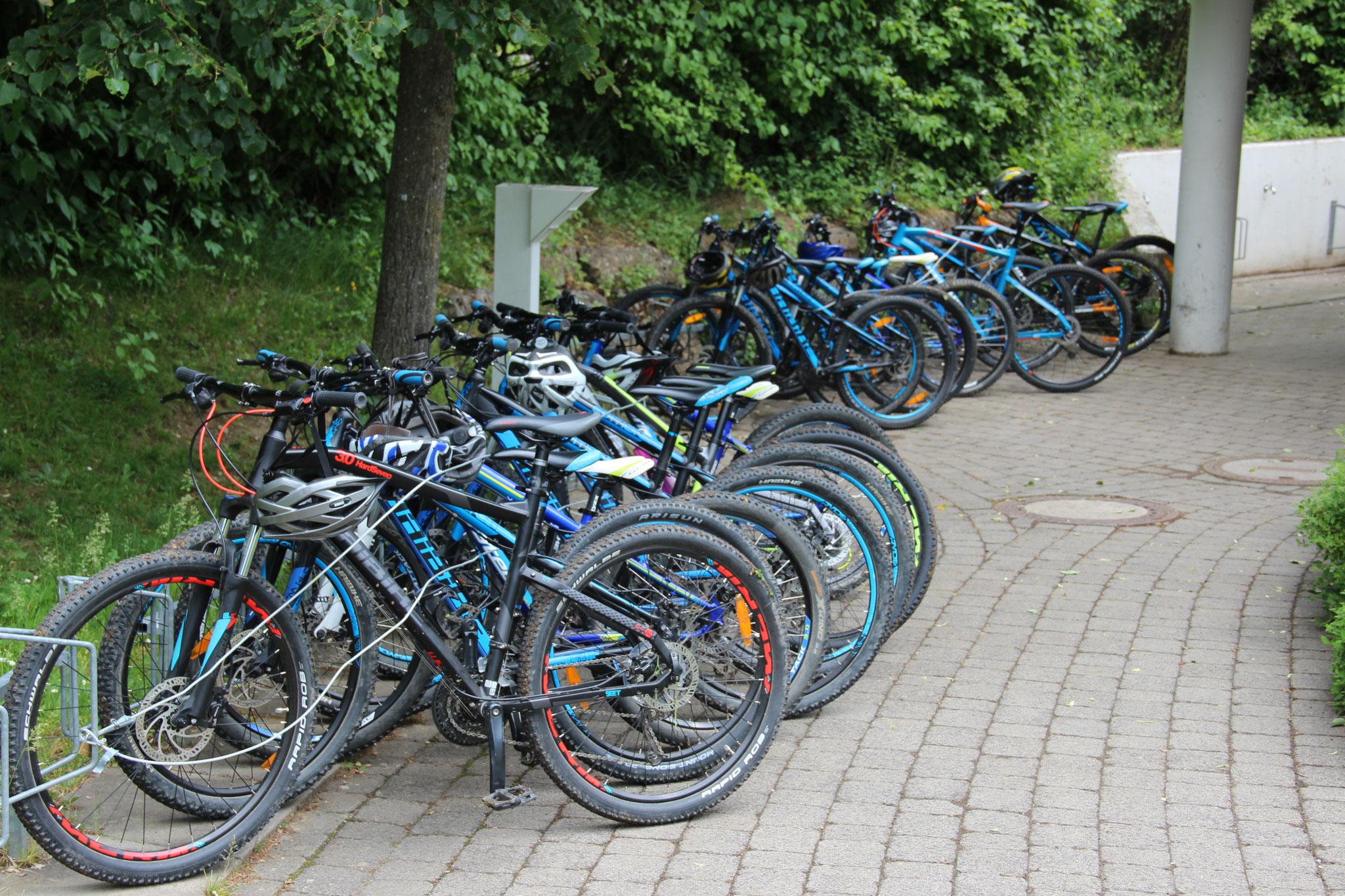 unsere Mountainbikes