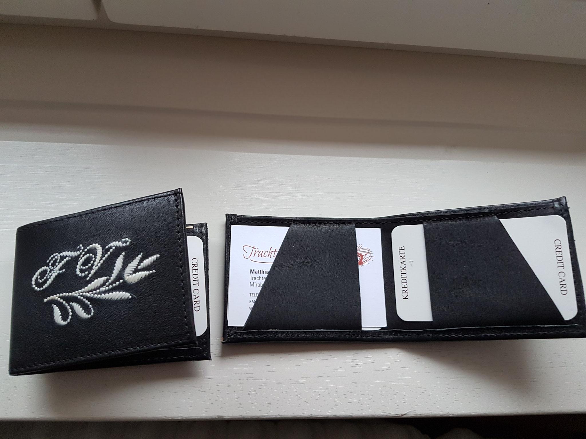 Einfacher federkielgestickter Geldbeutel für unterwegs