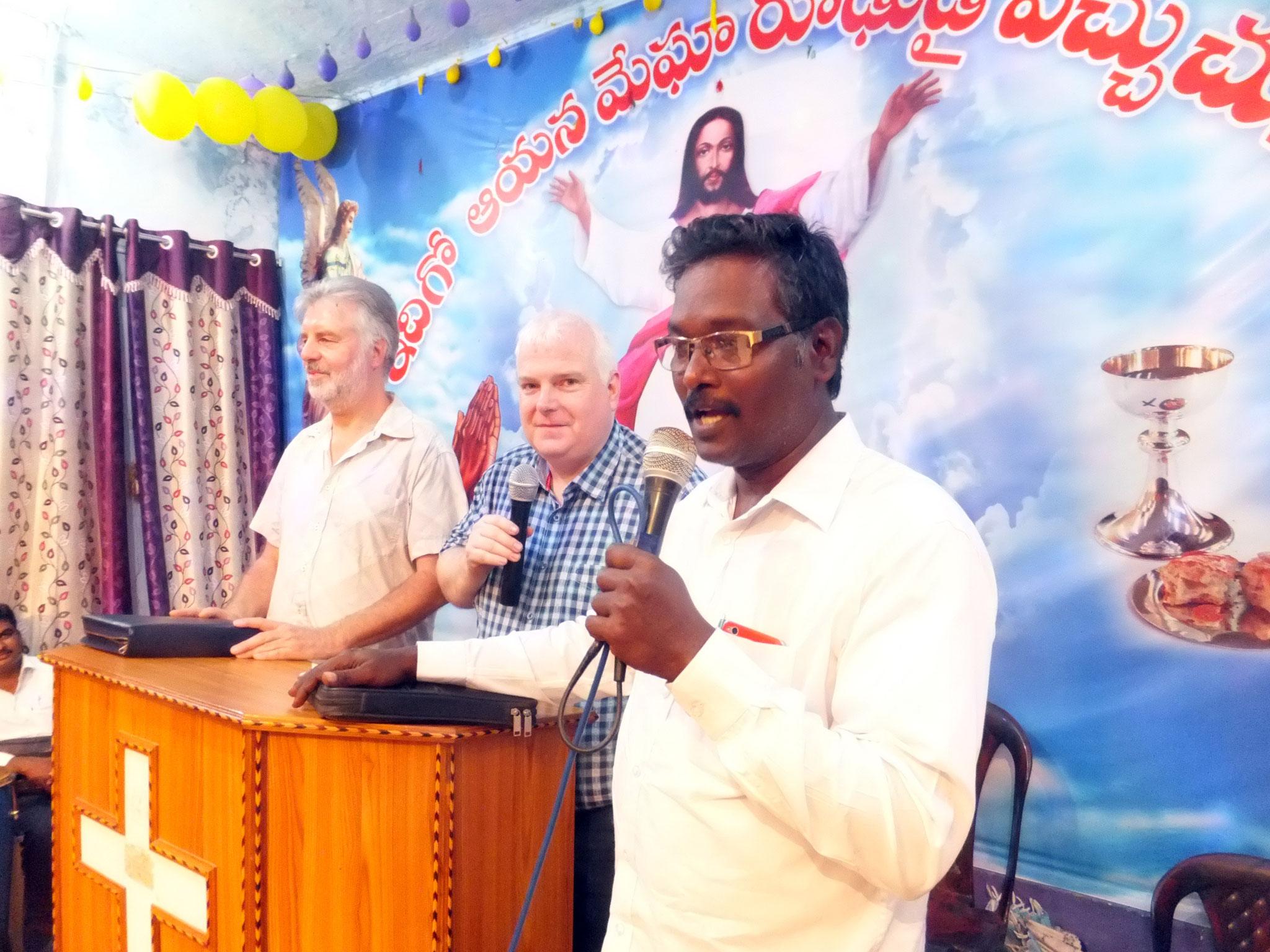 Predigt in drei Sprachen - Deutsch - Englisch - Telugu