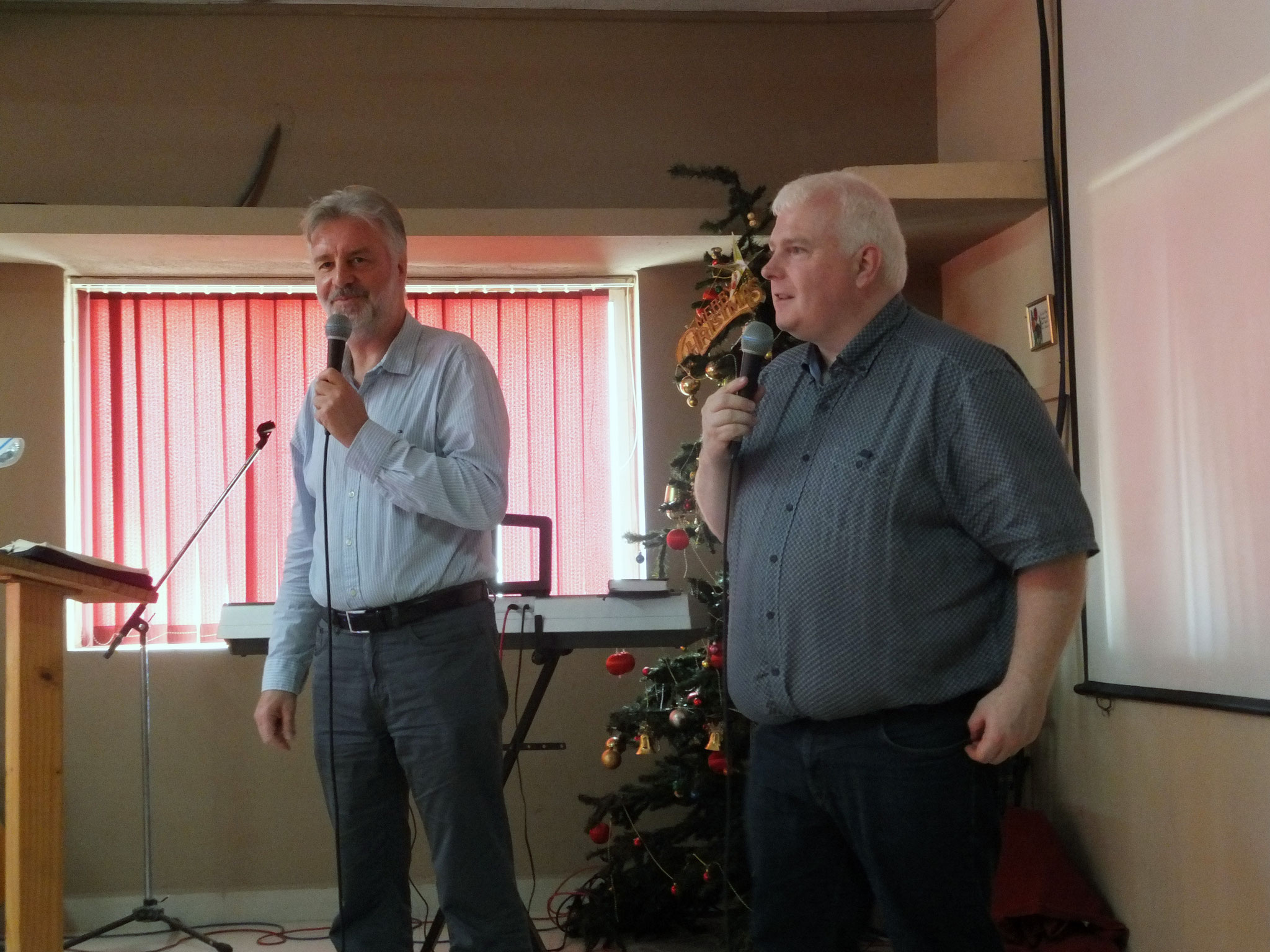 Bernd und Thomas predigen in Chennai