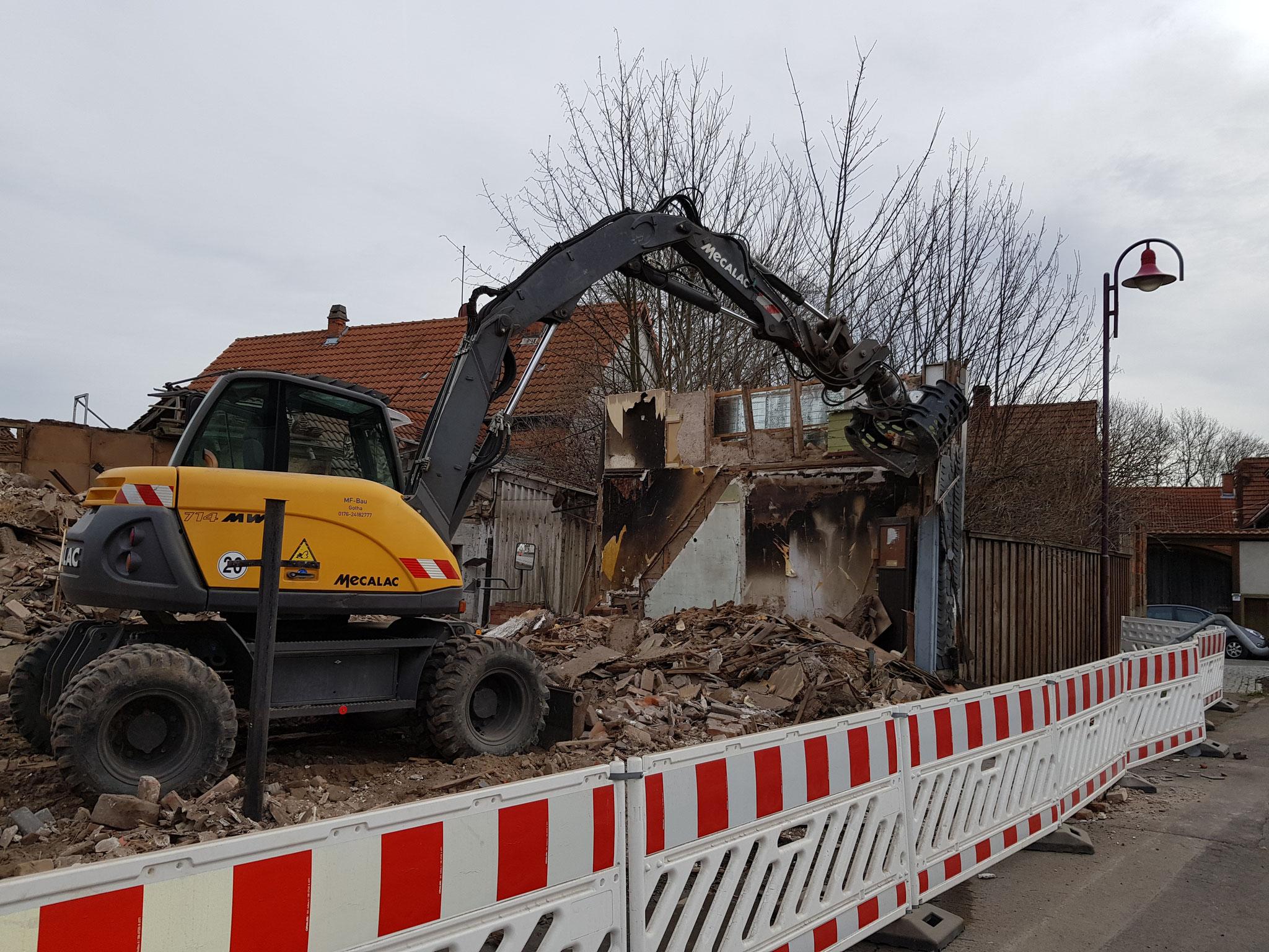 Abriss-Arbeiten von MF Bau im Januar 2020