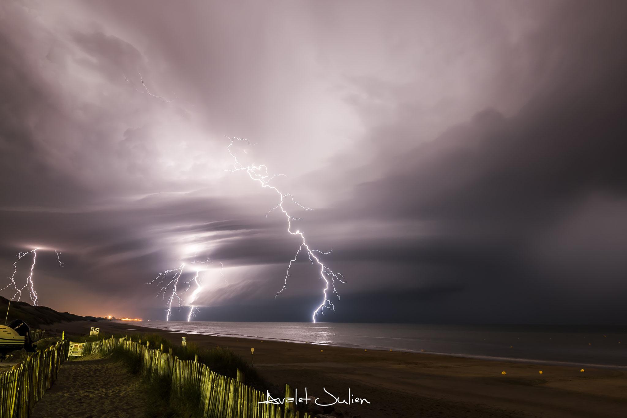 Fury of sky ! Merlimont(62)Pas-de-Calais le 29 août 2015