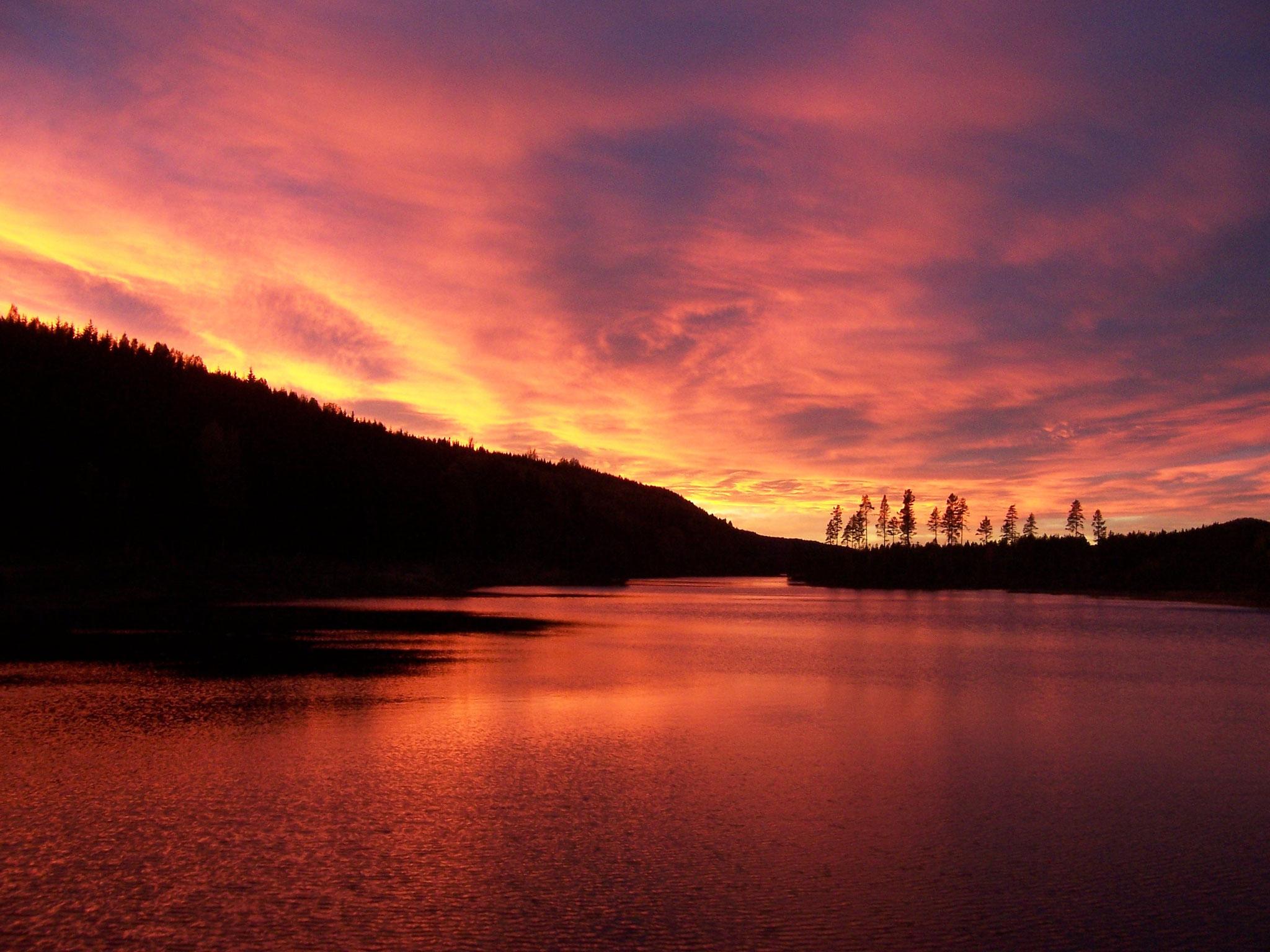 wunderbare Sonnenuntergänge