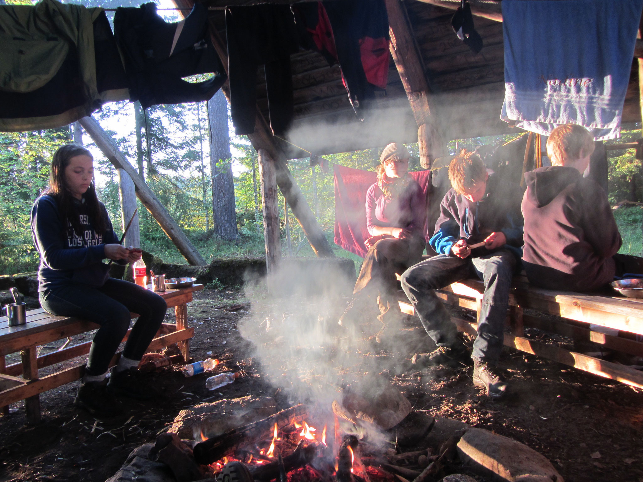 Lagerfeuer bei jedem Wetter