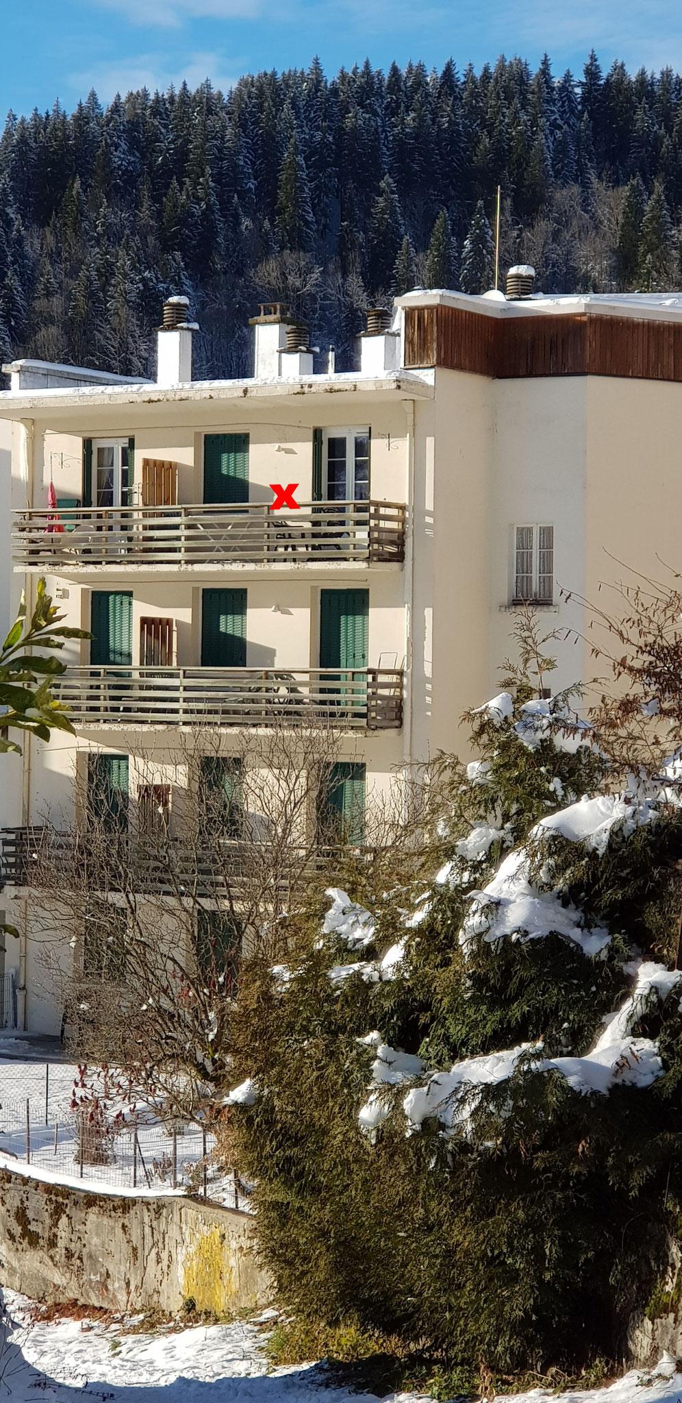 étage supérieur, balcon aménagé, vue Chamechaude