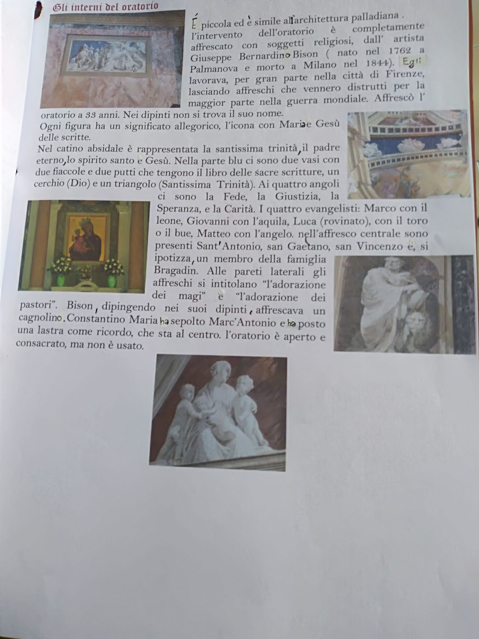 7 L'oratorio Bragadin